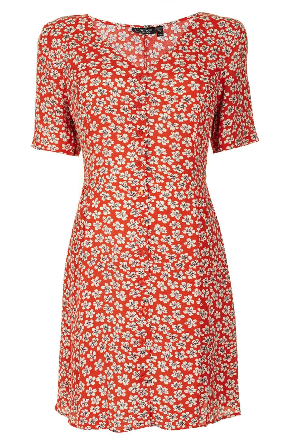 Main Image - Topshop 'Daisy' Floral Maternity Tea Dress
