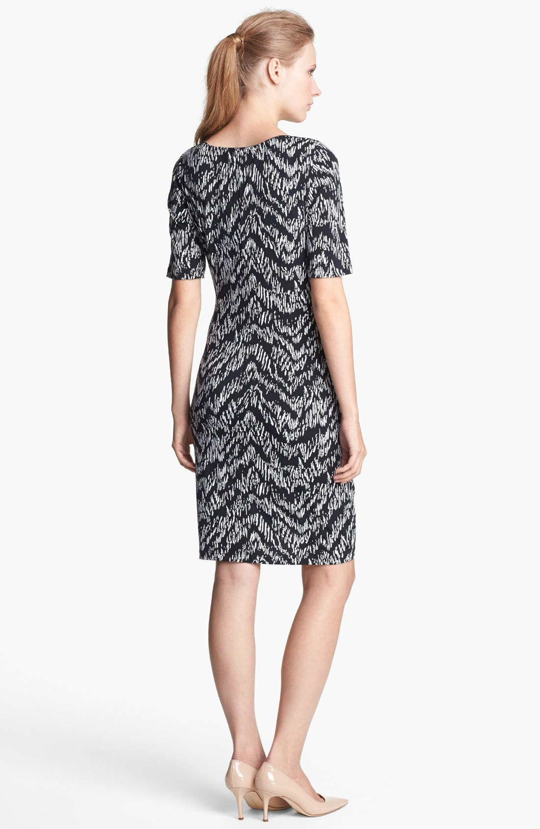 Alternate Image 2  - Ellen Tracy Print Jersey Sheath Dress