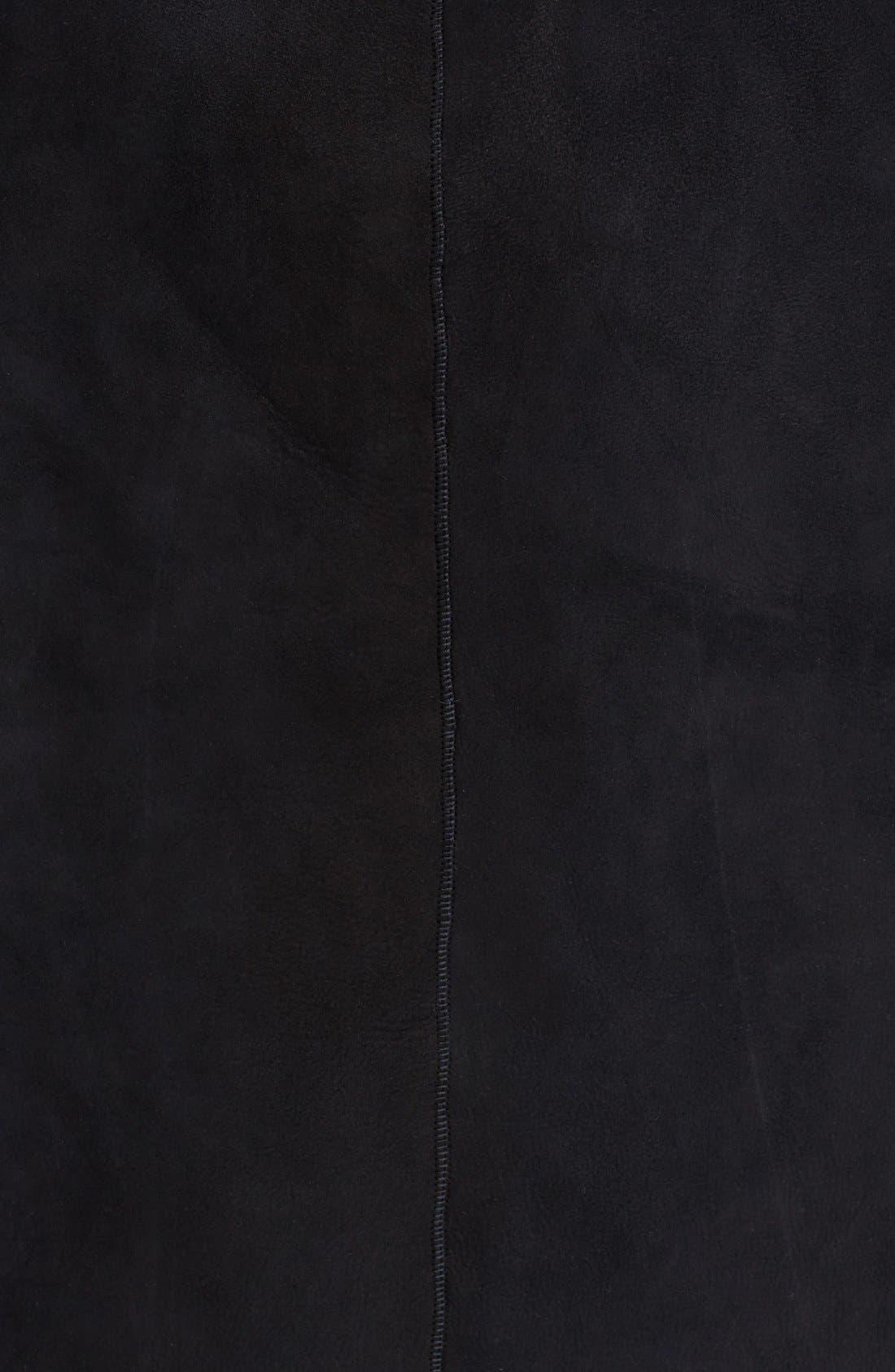 Alternate Image 3  - Cole Haan Asymmetrical Zip Genuine Toscana Shearling Coat