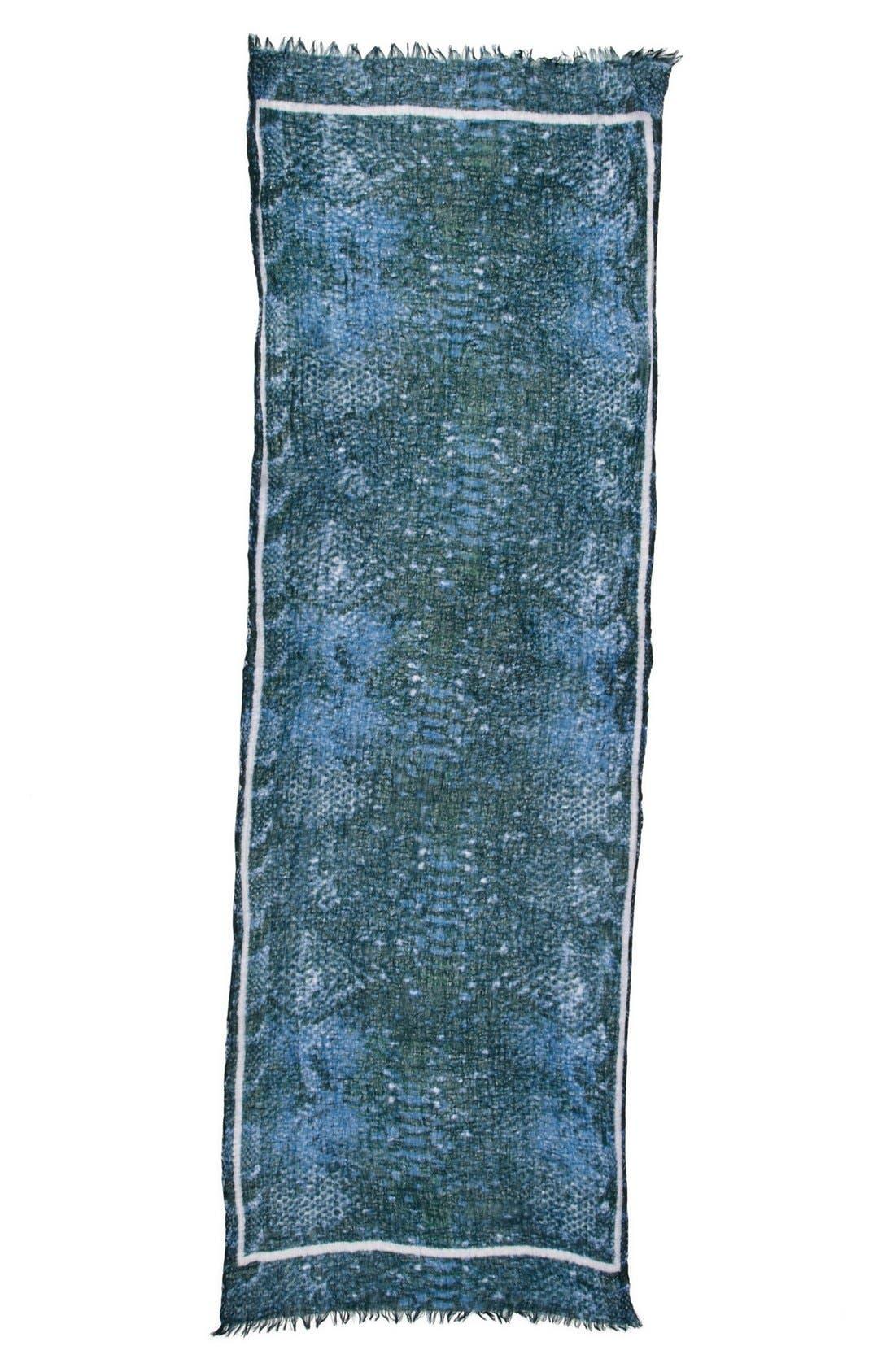 Alternate Image 2  - Nordstrom 'Serpentine' Wool Gauze Scarf