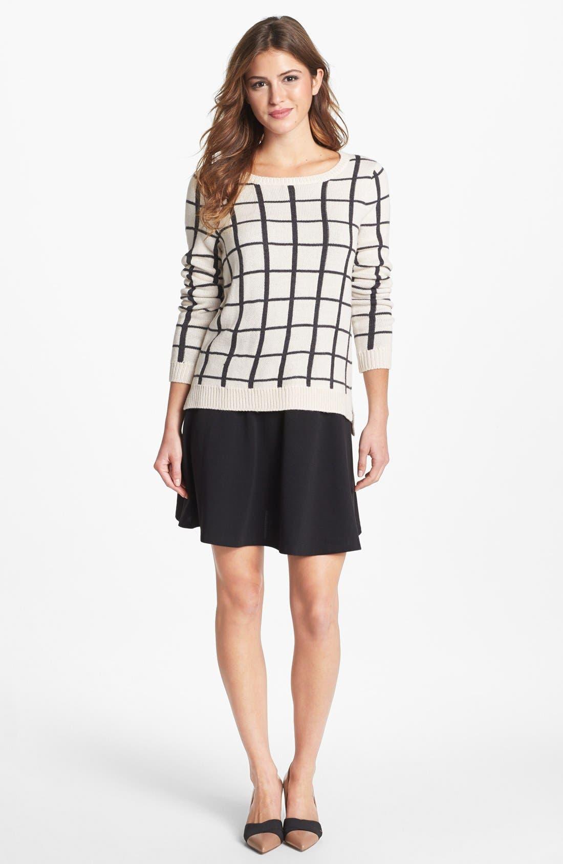 Alternate Image 1 Selected - Olive & Oak Grid Pattern Sweater