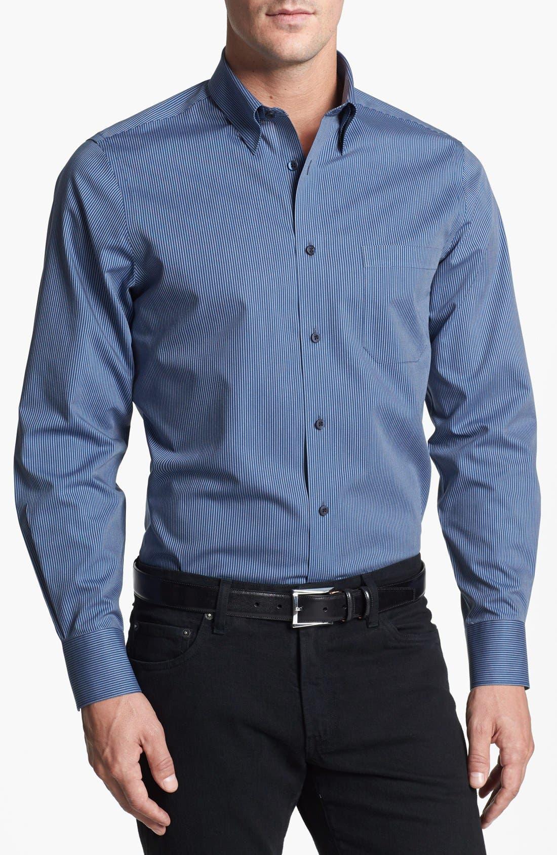 Alternate Image 1 Selected - Nordstrom Smartcare™ Striped Regular Fit Sport Shirt