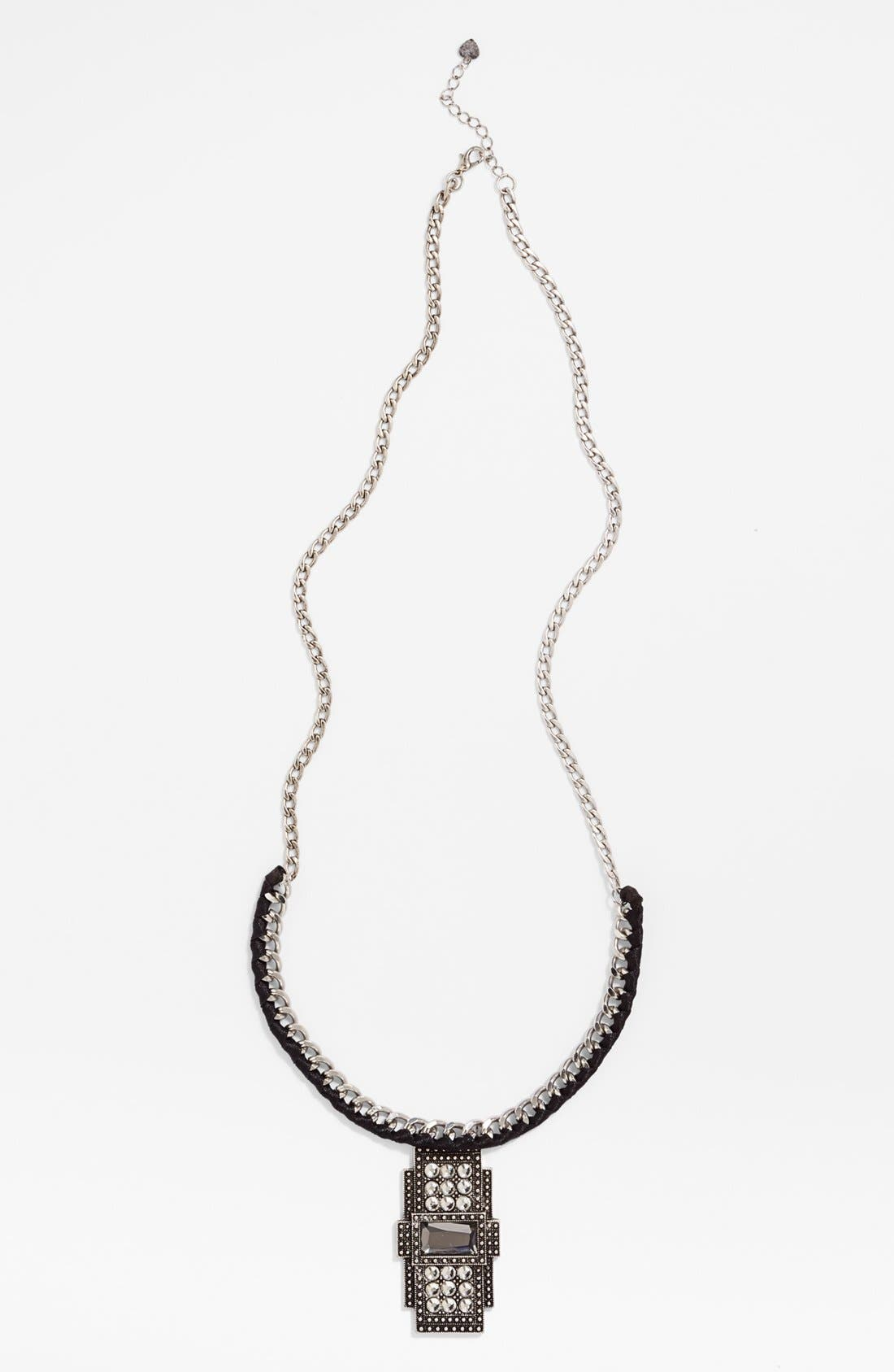 Alternate Image 1 Selected - Tildon Deco Pendant Weave Necklace