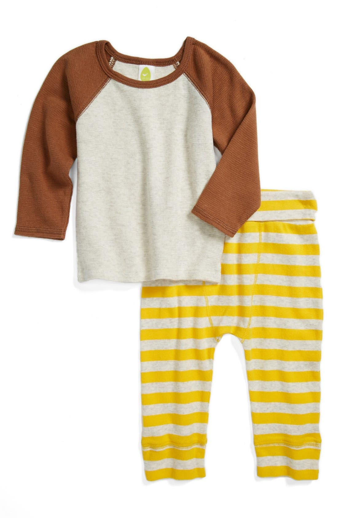 Alternate Image 1 Selected - Stem Baby Organic Cotton Top & Pants (Baby Boys)
