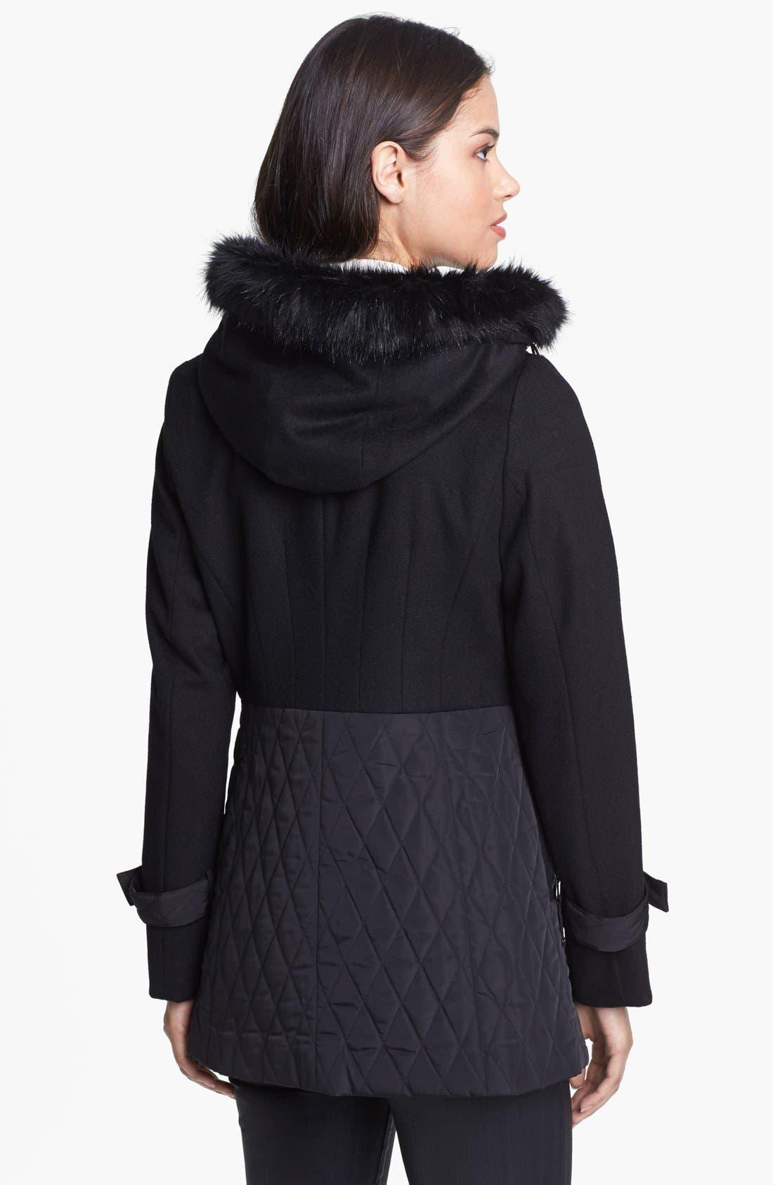 Alternate Image 2  - Kristen Blake Wool Blend & Quilted Coat (Nordstrom Exclusive)