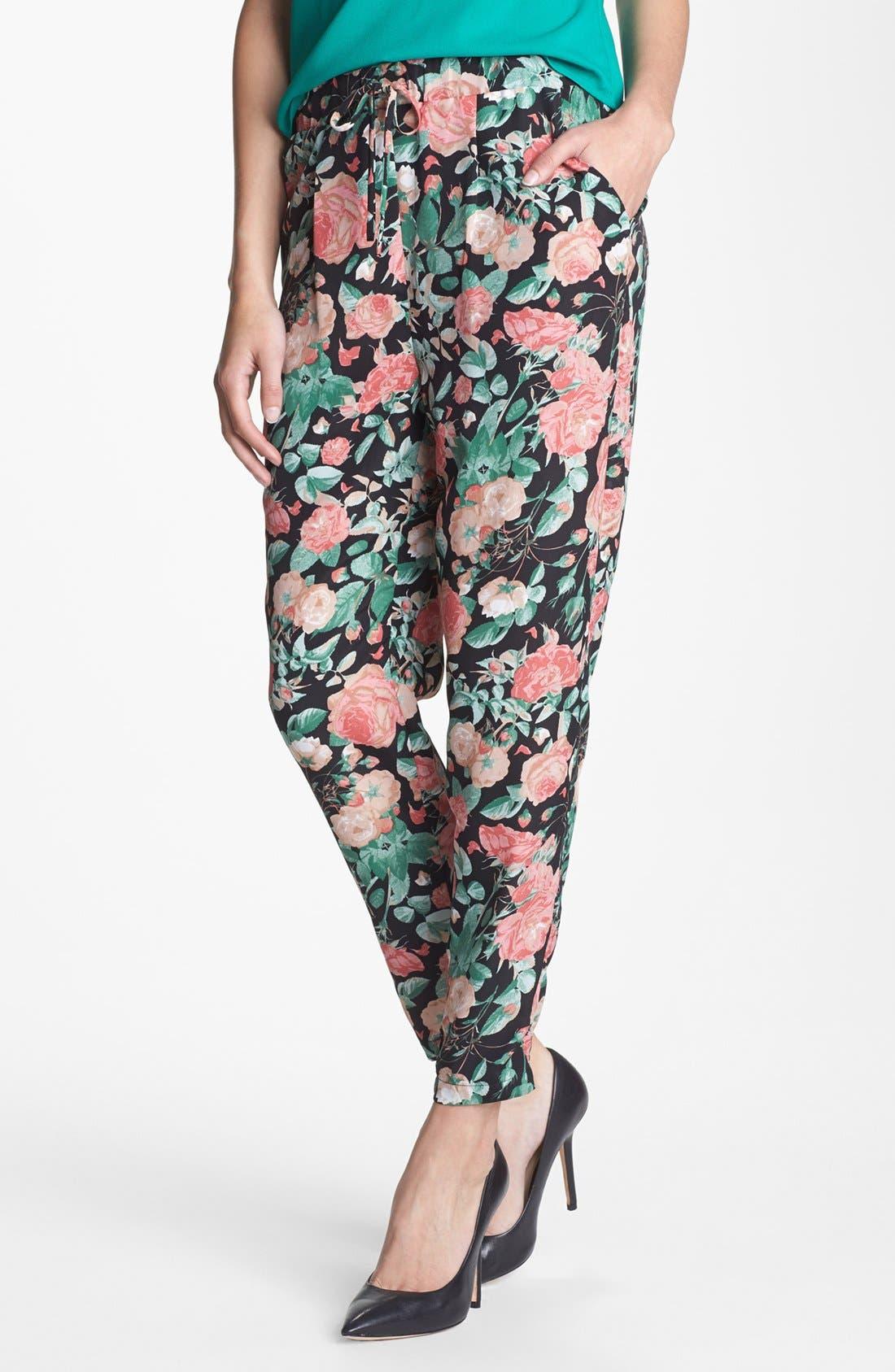 Alternate Image 1 Selected - Lovers + Friends 'Bright Eyes' Floral Print Pants