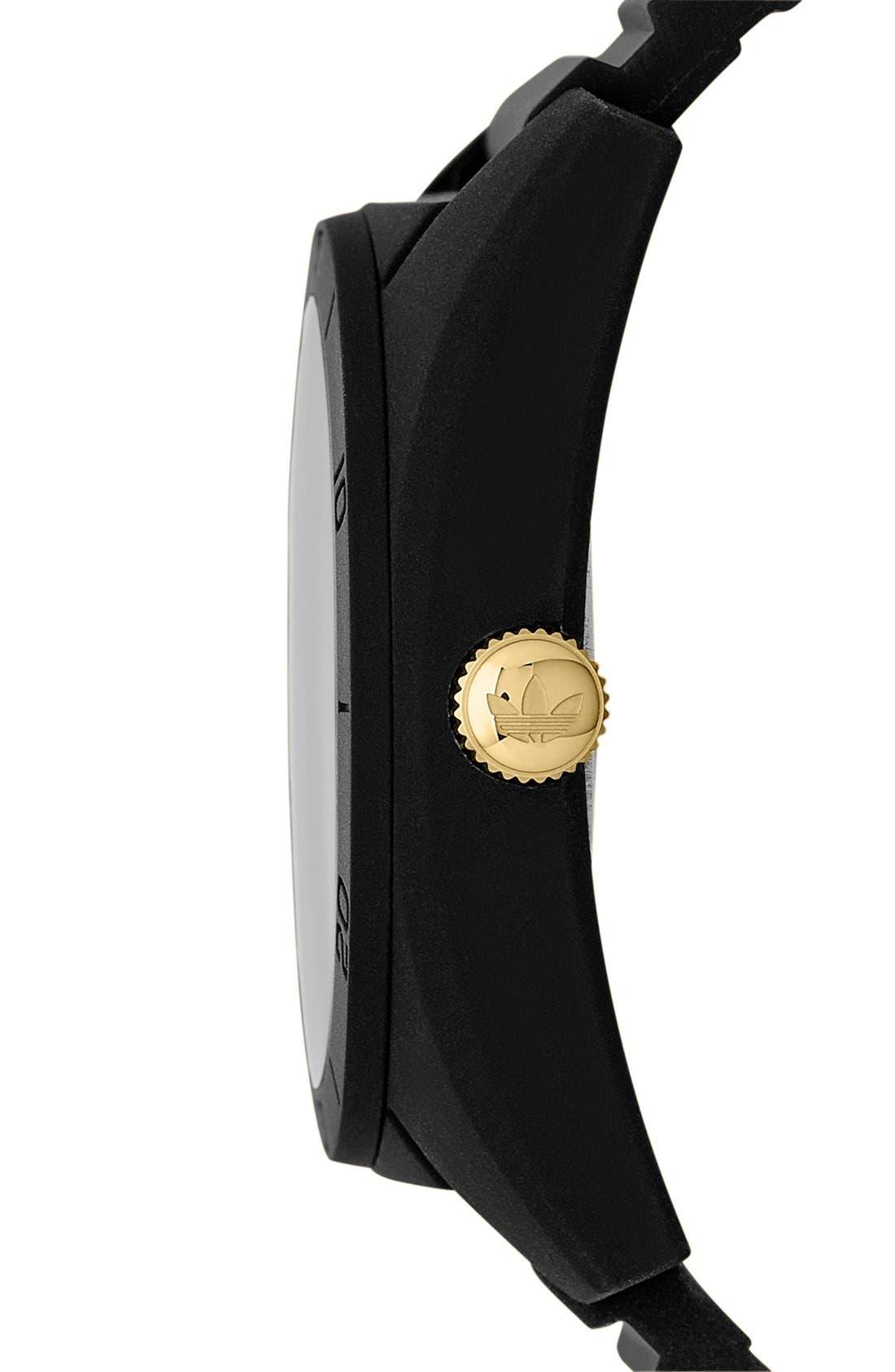 Alternate Image 3  - adidas Originals 'Santiago' Polyurethane Strap Watch, 42mm
