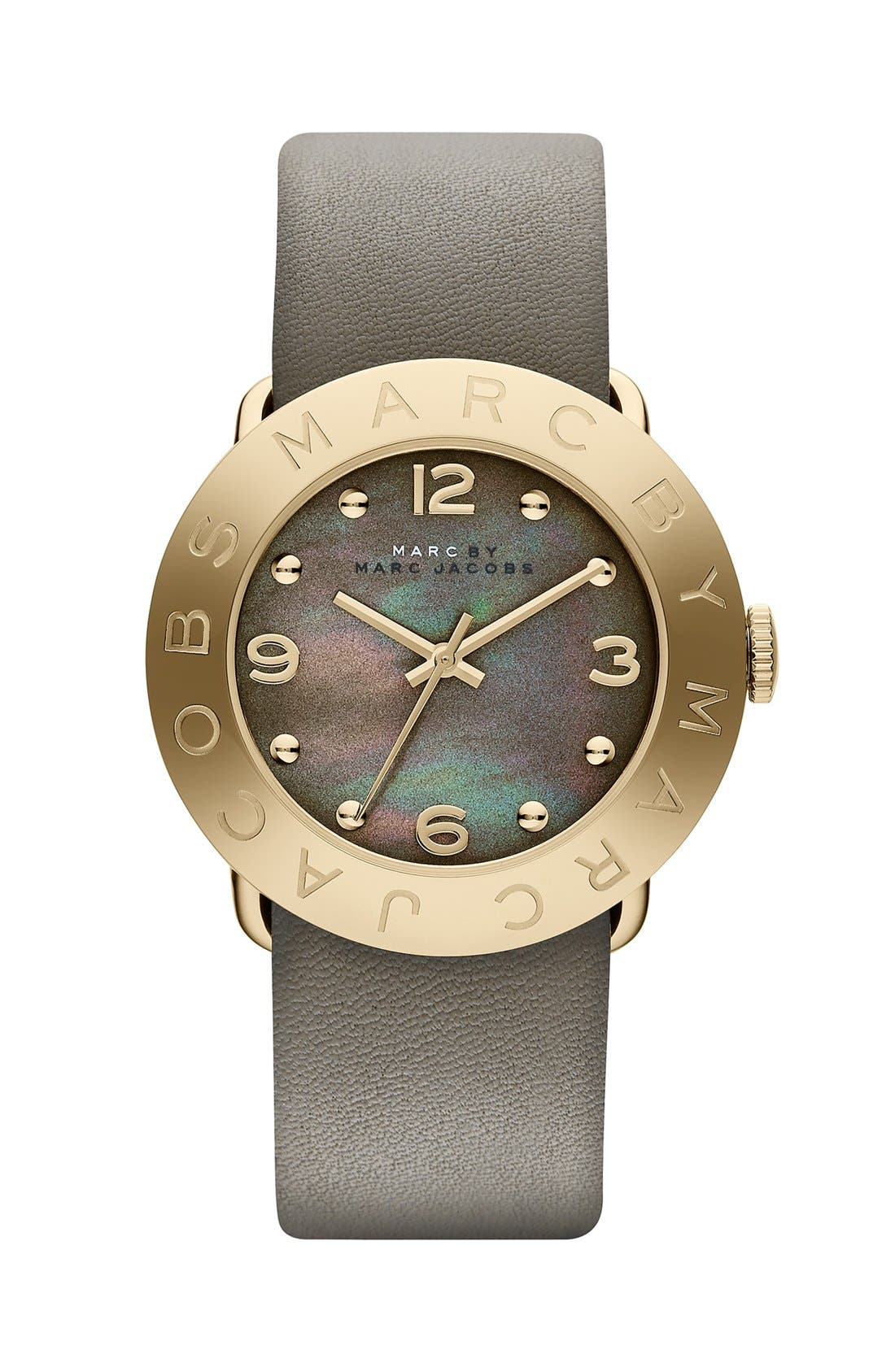 Alternate Image 1 Selected - MARC JACOBS 'Amy' Leather Strap Watch, 36mm