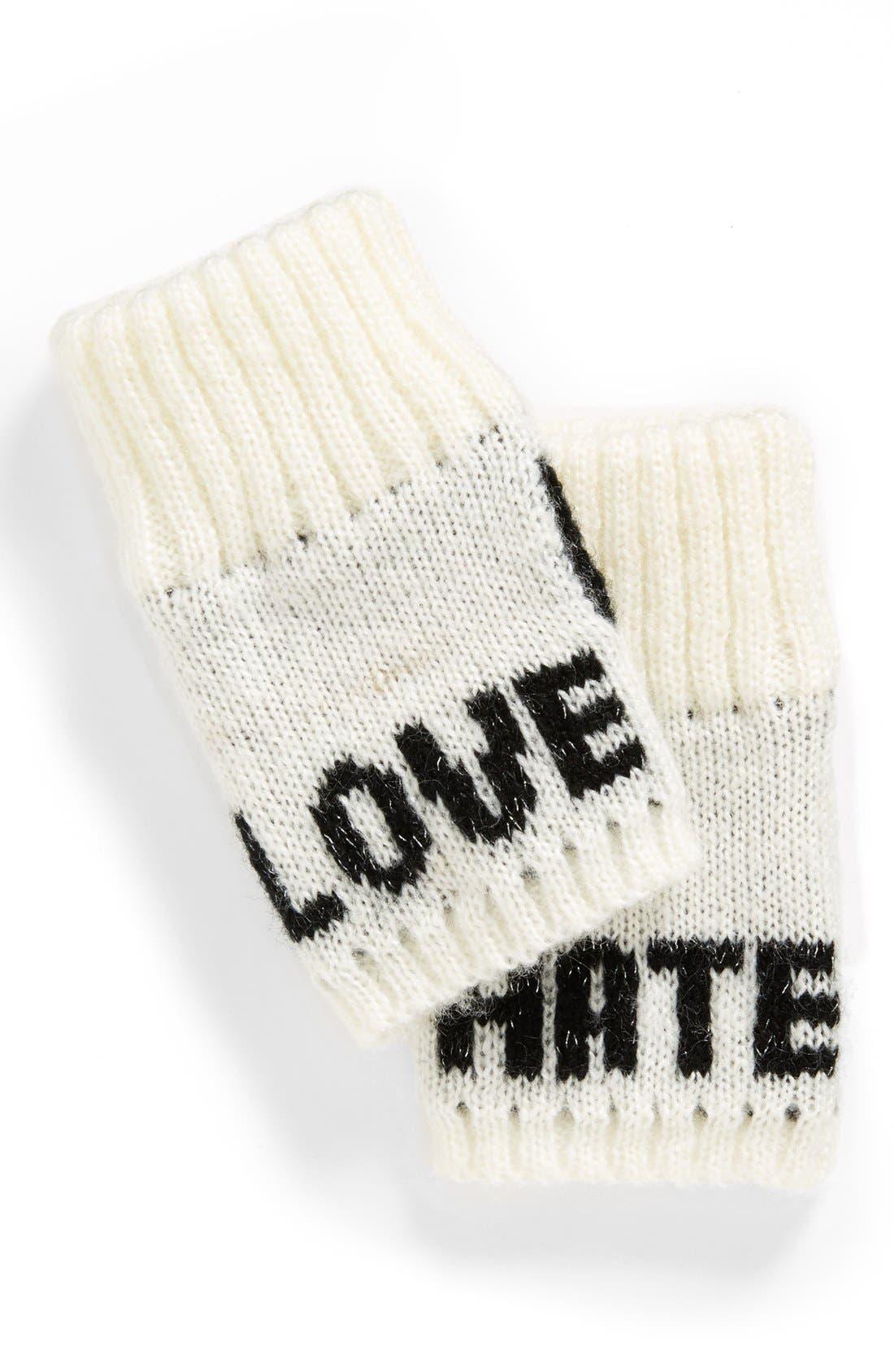 Main Image - BCBGeneration 'Love/Hate' Fingerless Gloves