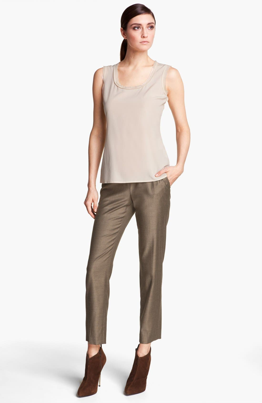 Alternate Image 3  - St. John Collection 'Emma' Shimmer Twill Crop Pants