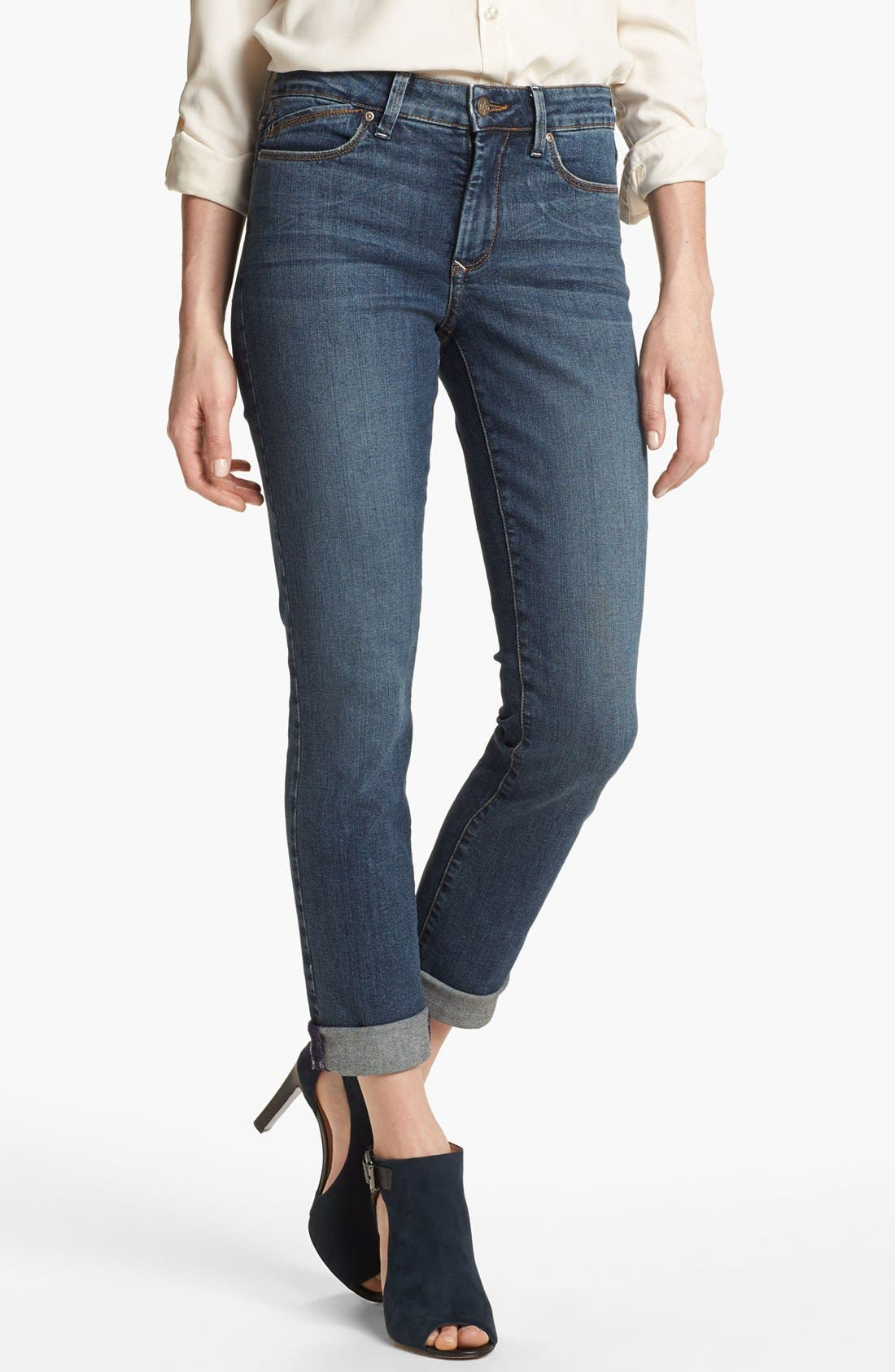 Alternate Image 1 Selected - NYDJ 'Leann' Stretch Skinny Boyfriend Jeans (Petite)