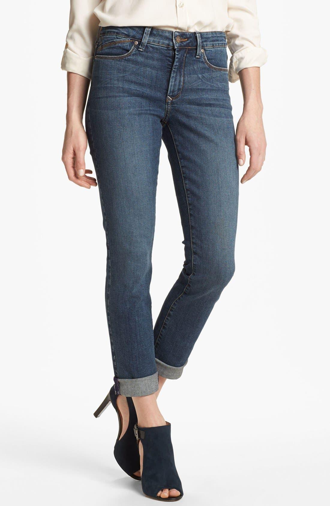 Main Image - NYDJ 'Leann' Stretch Skinny Boyfriend Jeans (Petite)