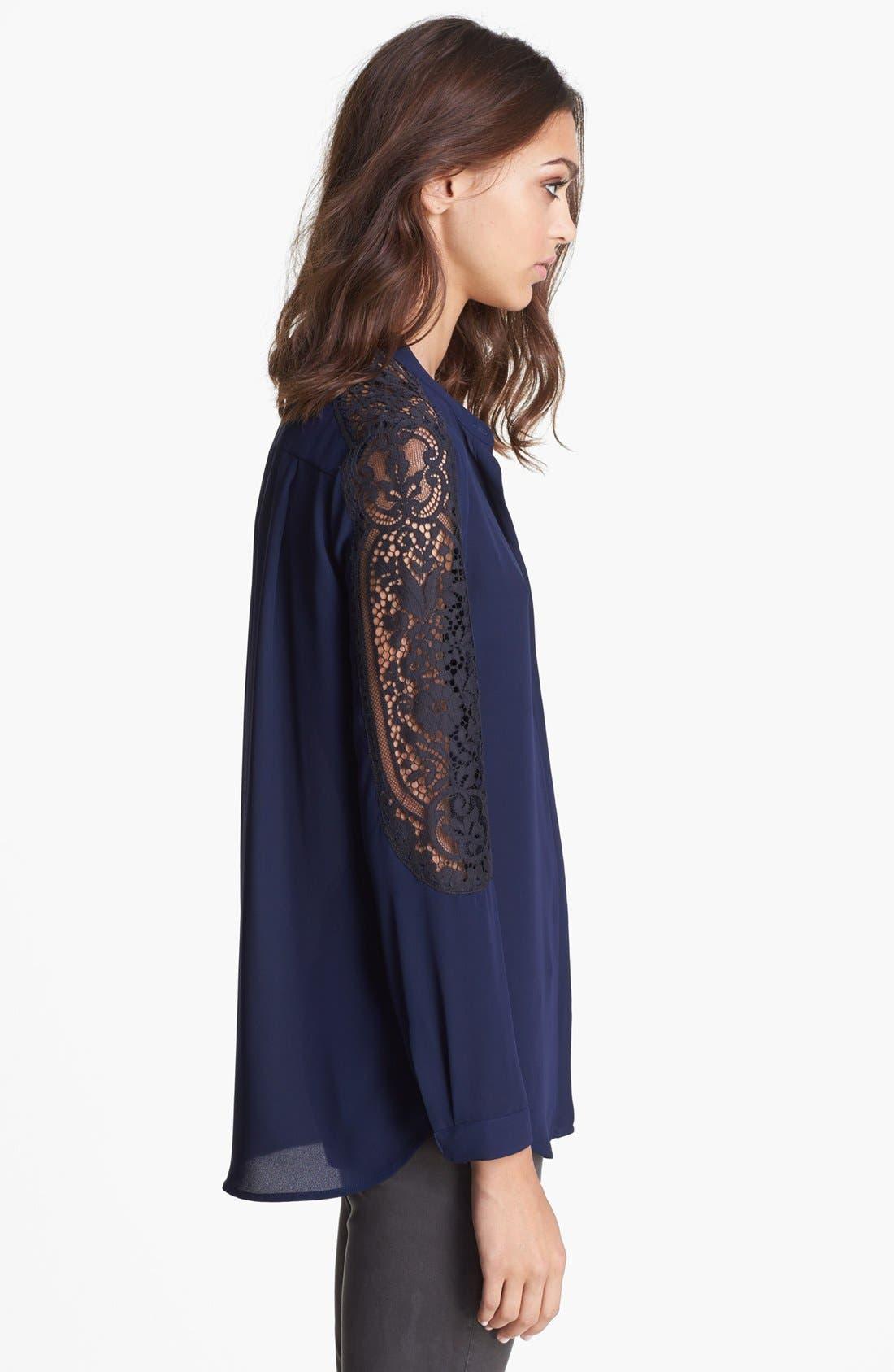 Alternate Image 3  - The Kooples Lace Sleeve Blouse