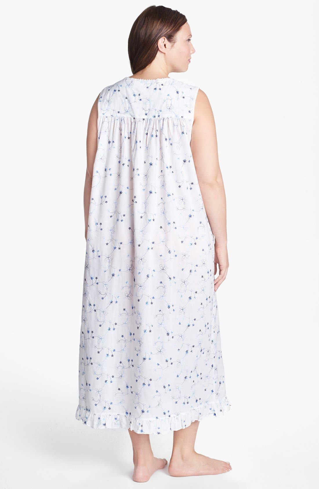 Alternate Image 2  - Eileen West 'Italian Romance' Nightgown (Plus Size)
