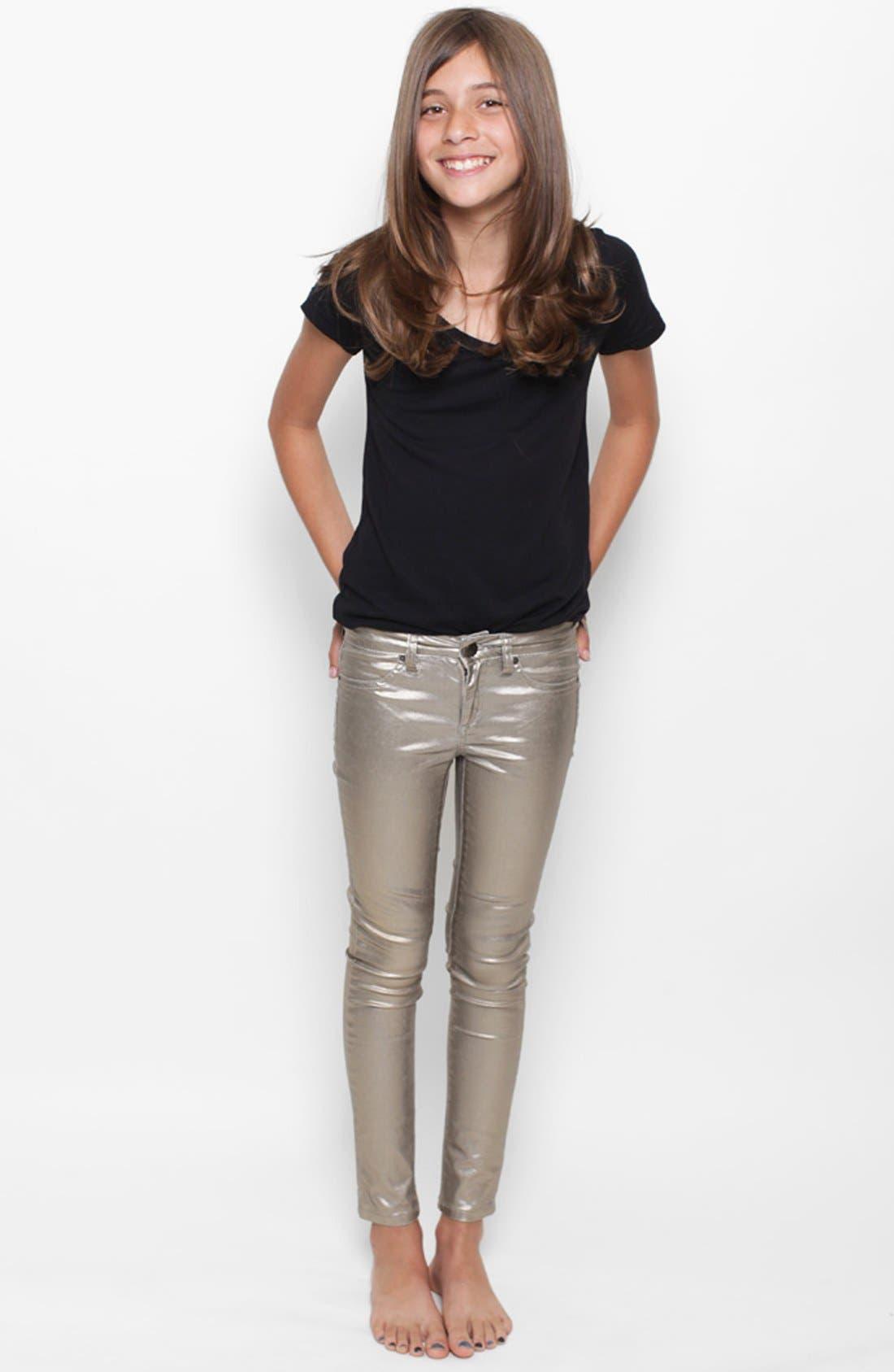 Alternate Image 3  - Joe's Foil Skinny Jeans (Big Girls)