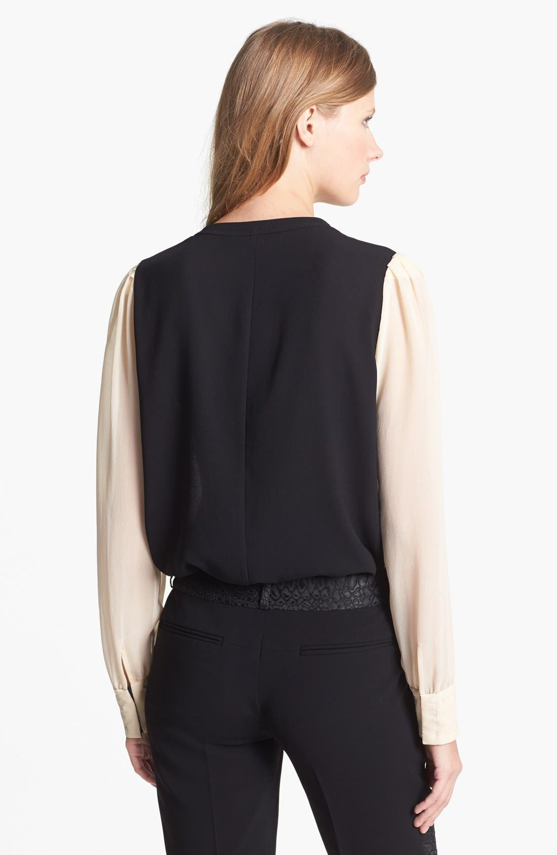 Alternate Image 2  - Diane von Furstenberg 'Etta' Colorblock Silk Blouse