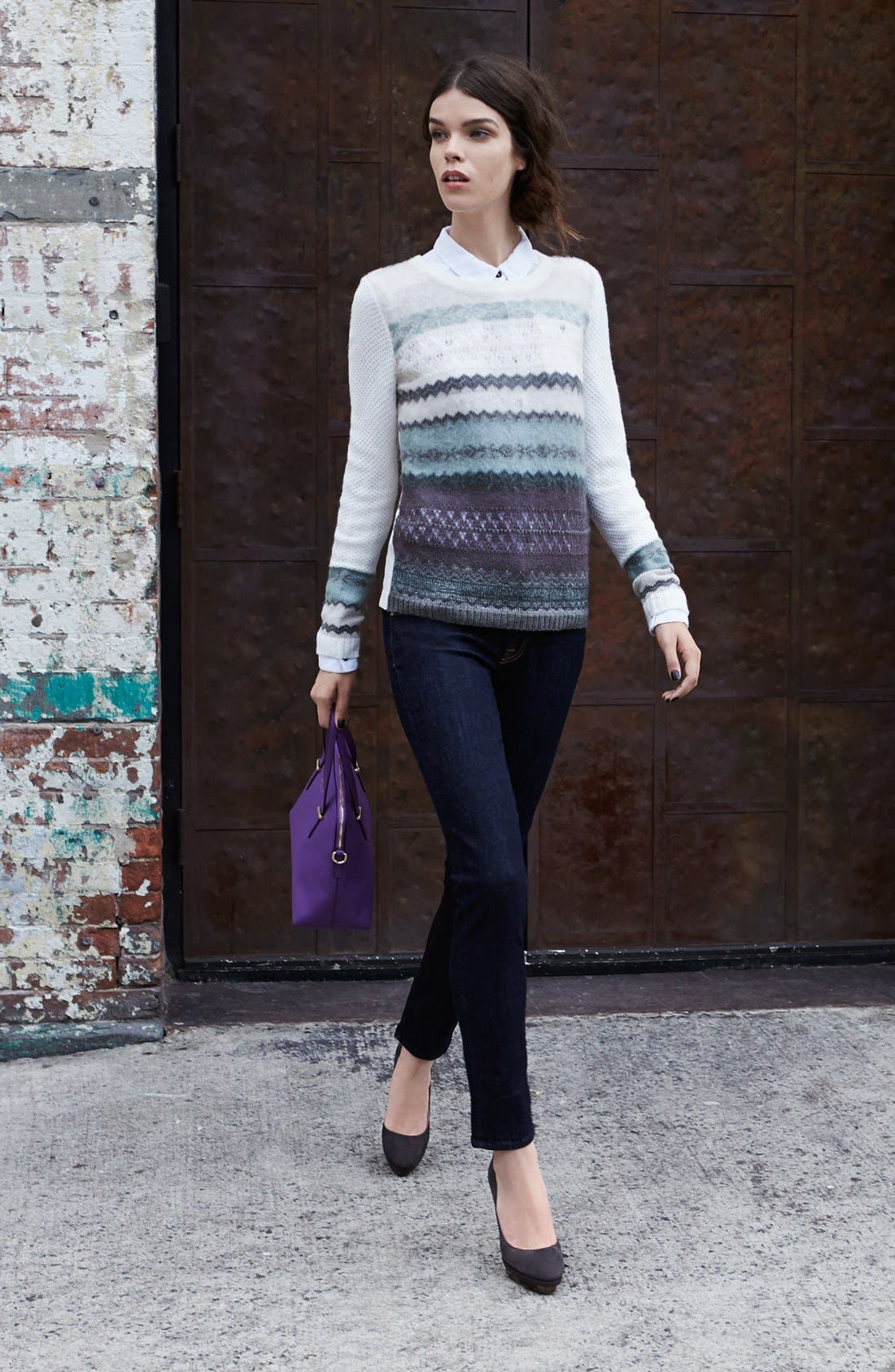 Main Image - Hinge® Sweater, Free People Shirt & 7 For All Mankind® Jeans
