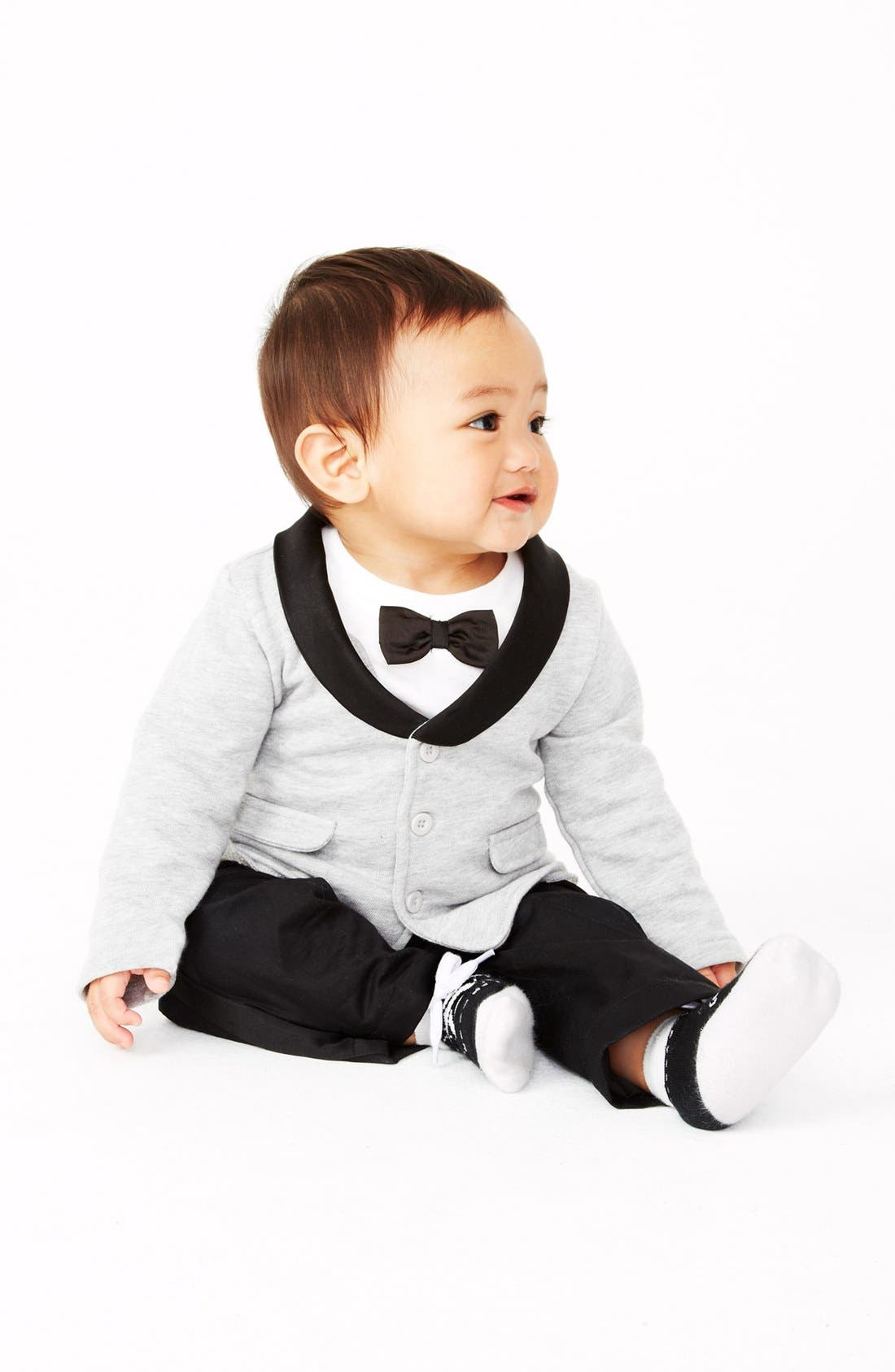Alternate Image 2  - Miniclasix Jacket, T-Shirt & Pants (Baby Boys)