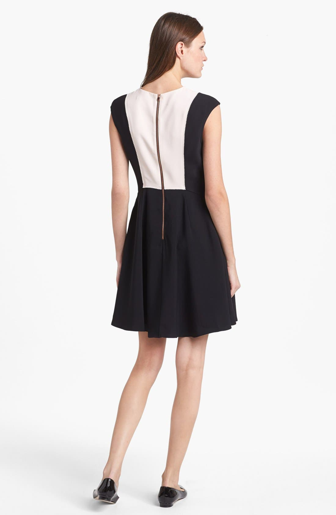 Alternate Image 2  - Ted Baker London Bow Collar Jersey A-line Dress