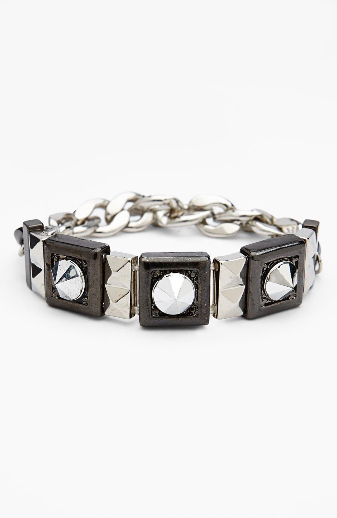 Main Image - Topshop Studded Chain Stretch Bracelet