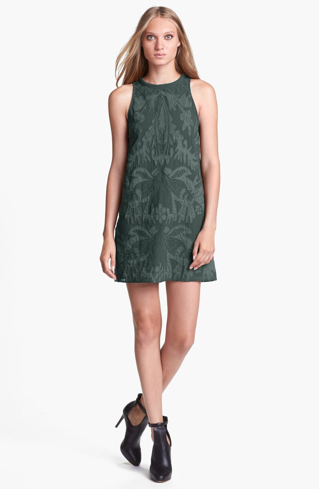 Main Image - ASTR Embroidered Shift Dress