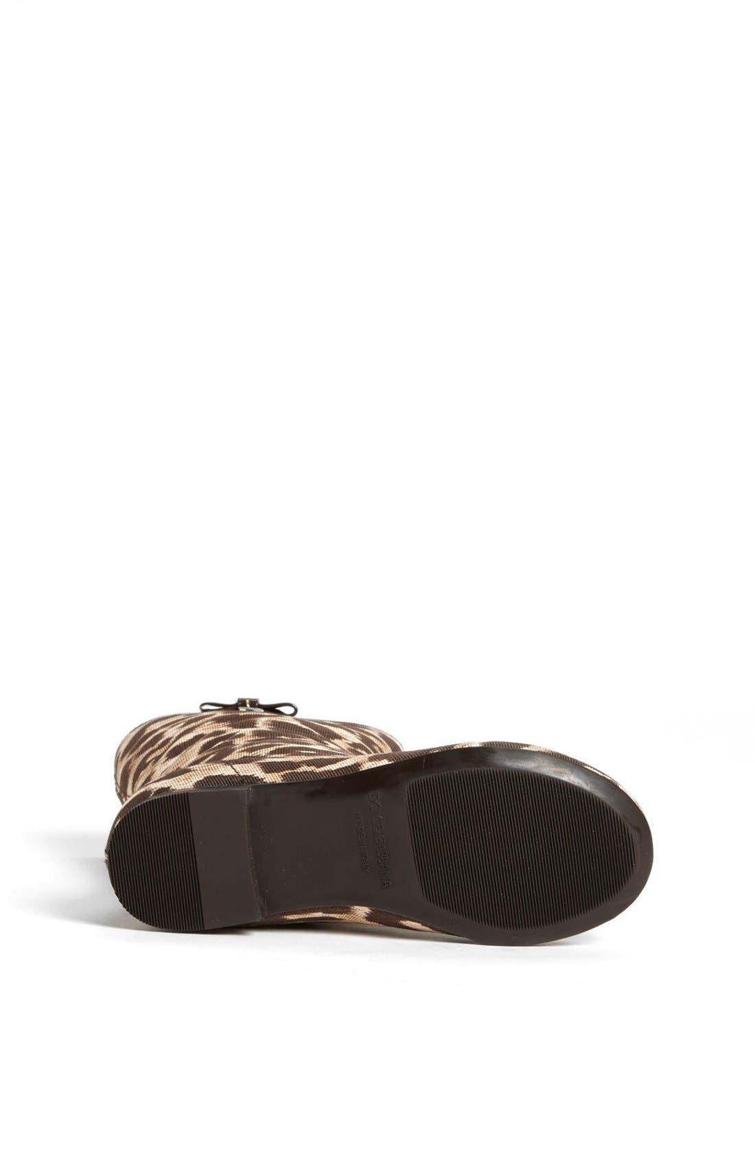 Alternate Image 4  - Dolce&Gabbana 'Tessuto Leo' Boot (Toddler & Little Kid)