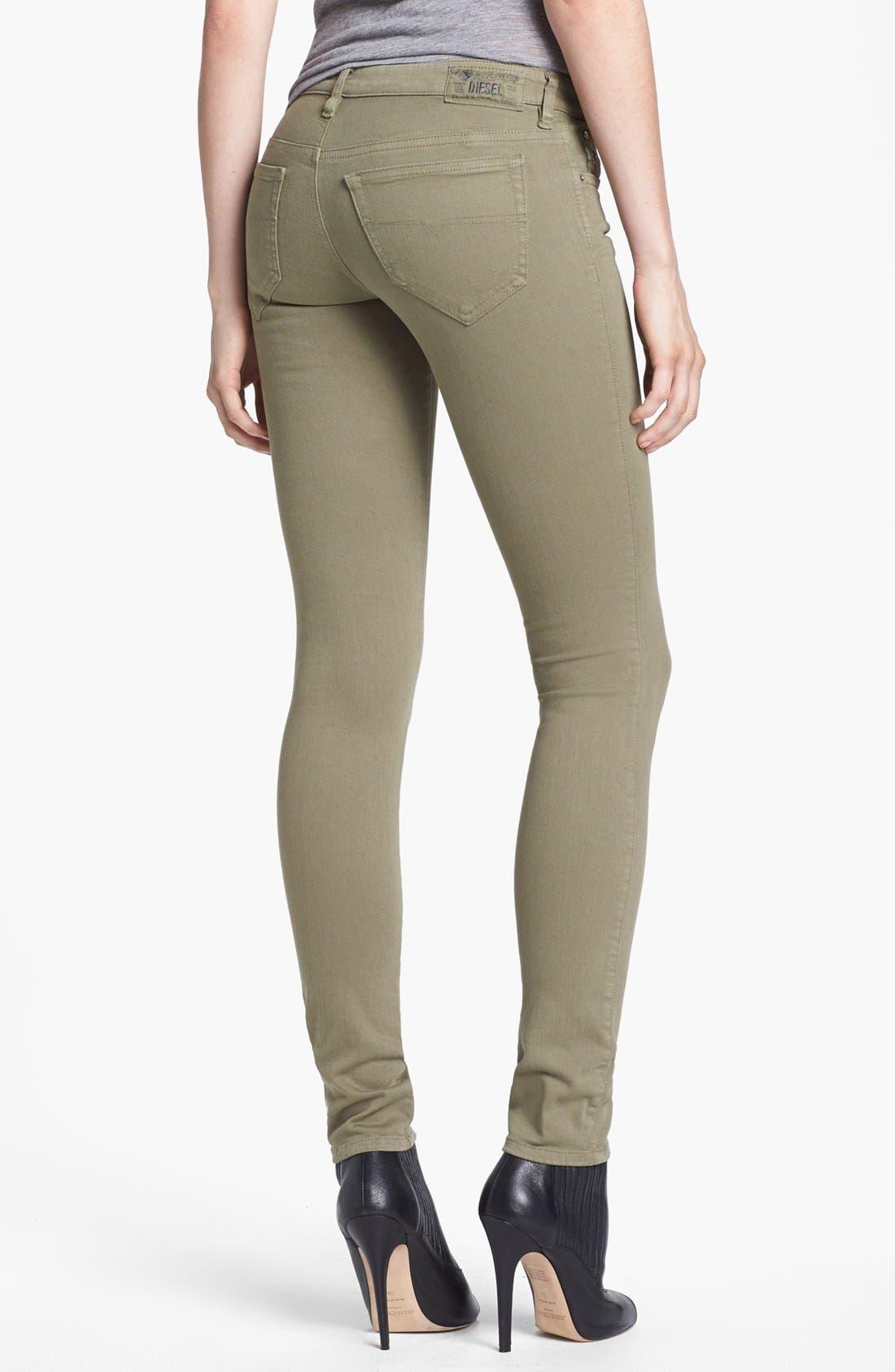 Alternate Image 2  - DIESEL® 'Skinzee' Low Rise Skinny Jeans