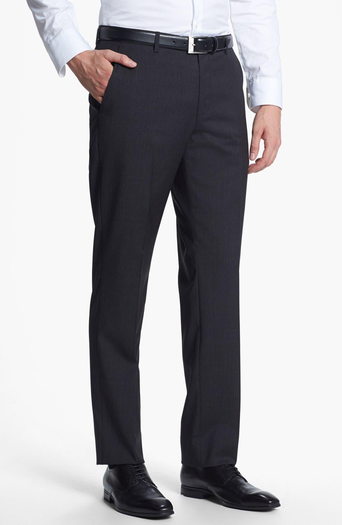 Alternate Image 5  - BOSS HUGO BOSS 'James/Sharp' Trim Fit Check Suit