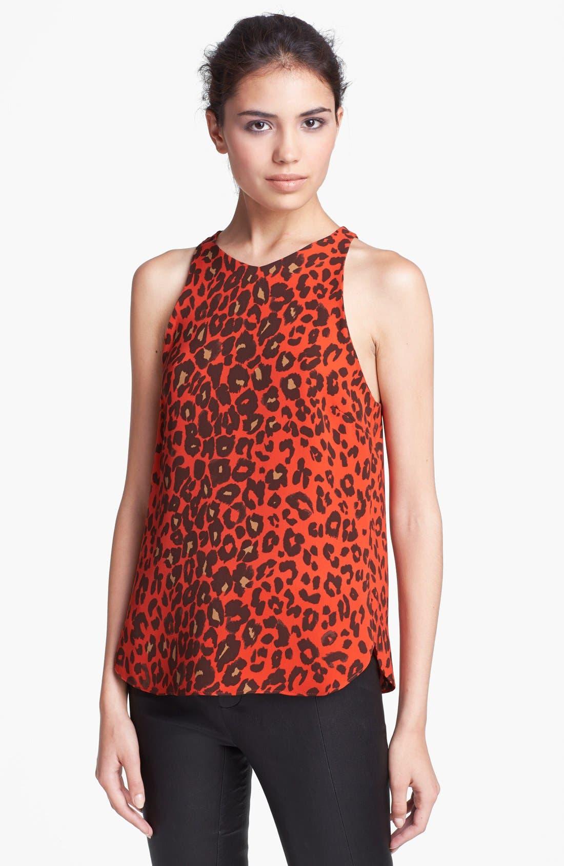 Main Image - A.L.C. 'Anise' Leopard Print Silk Top