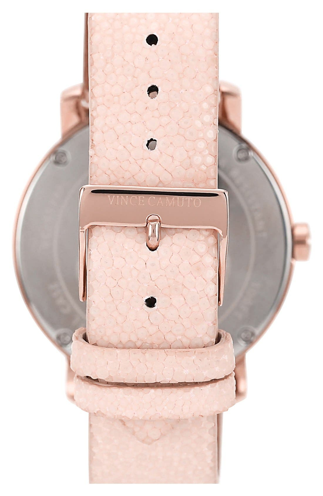 Alternate Image 3  - Vince Camuto Round Multifunction Stingray Strap Watch, 42mm