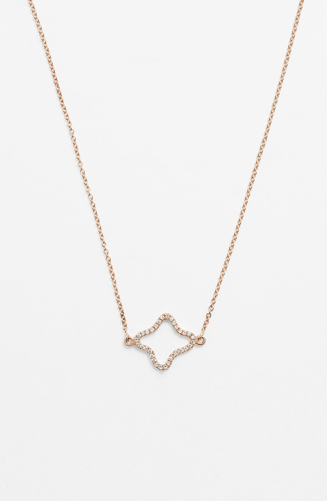 Main Image - Bony Levy Pavé Diamond Quatrefoil Pendant Necklace (Nordstrom Exclusive)