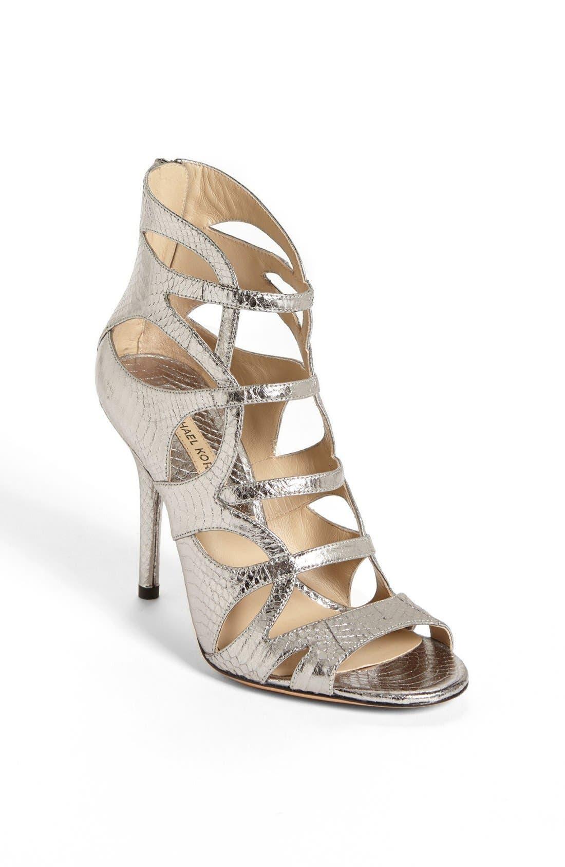 Main Image - Michael Kors 'Casey' Genuine Snakeskin Sandal