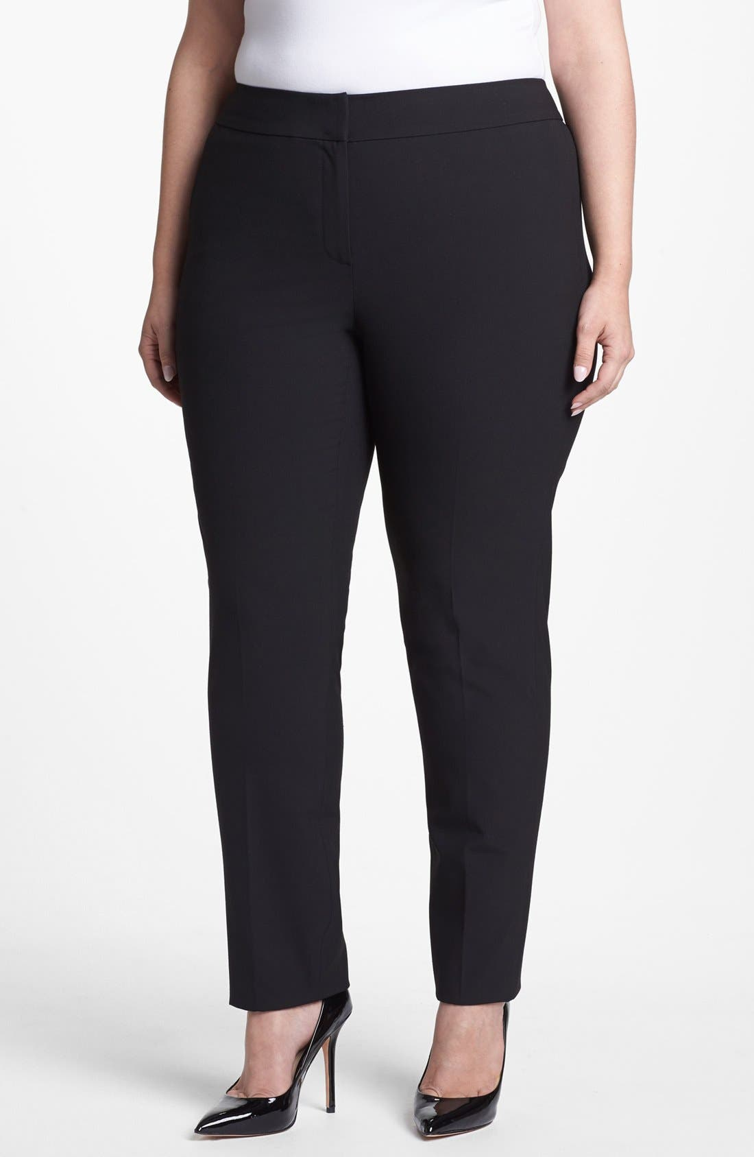 Main Image - Sejour 'Ela' Straight Leg Pants (Plus Size)