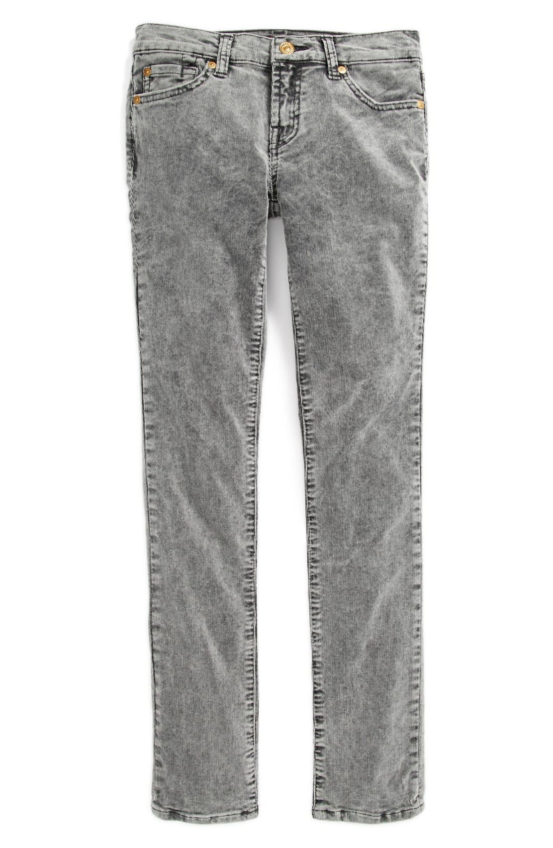 Alternate Image 2  - 7 For All Mankind 'Roxanne' Skinny Corduroys (Big Girls)