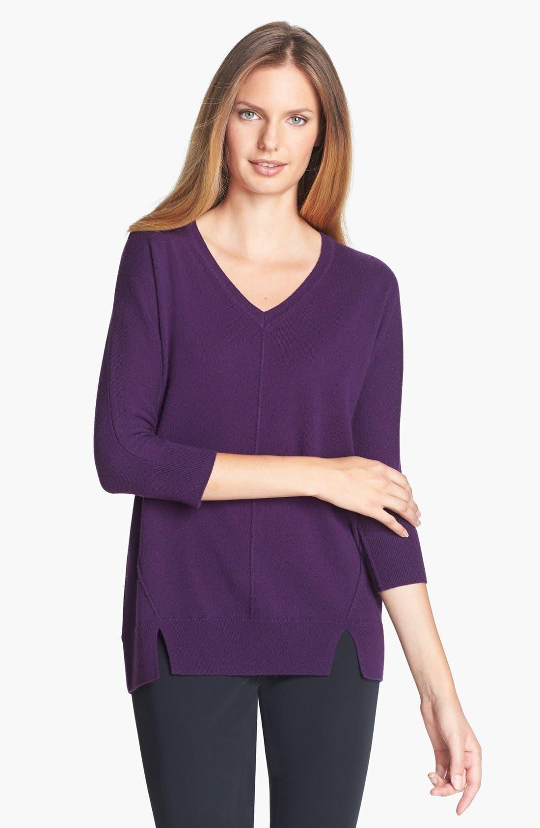 Alternate Image 1 Selected - Nordstrom Collection V-Neck Cashmere Sweater