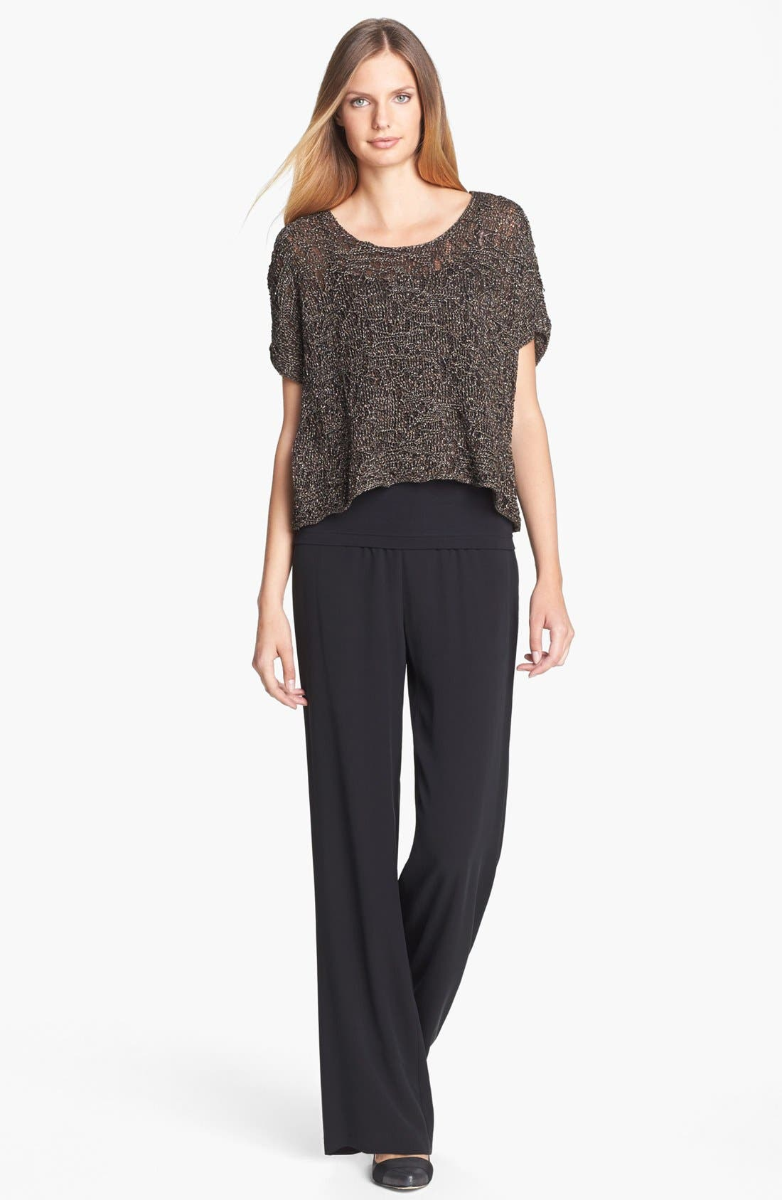Alternate Image 3  - Eileen Fisher Sparkle Jacquard Top