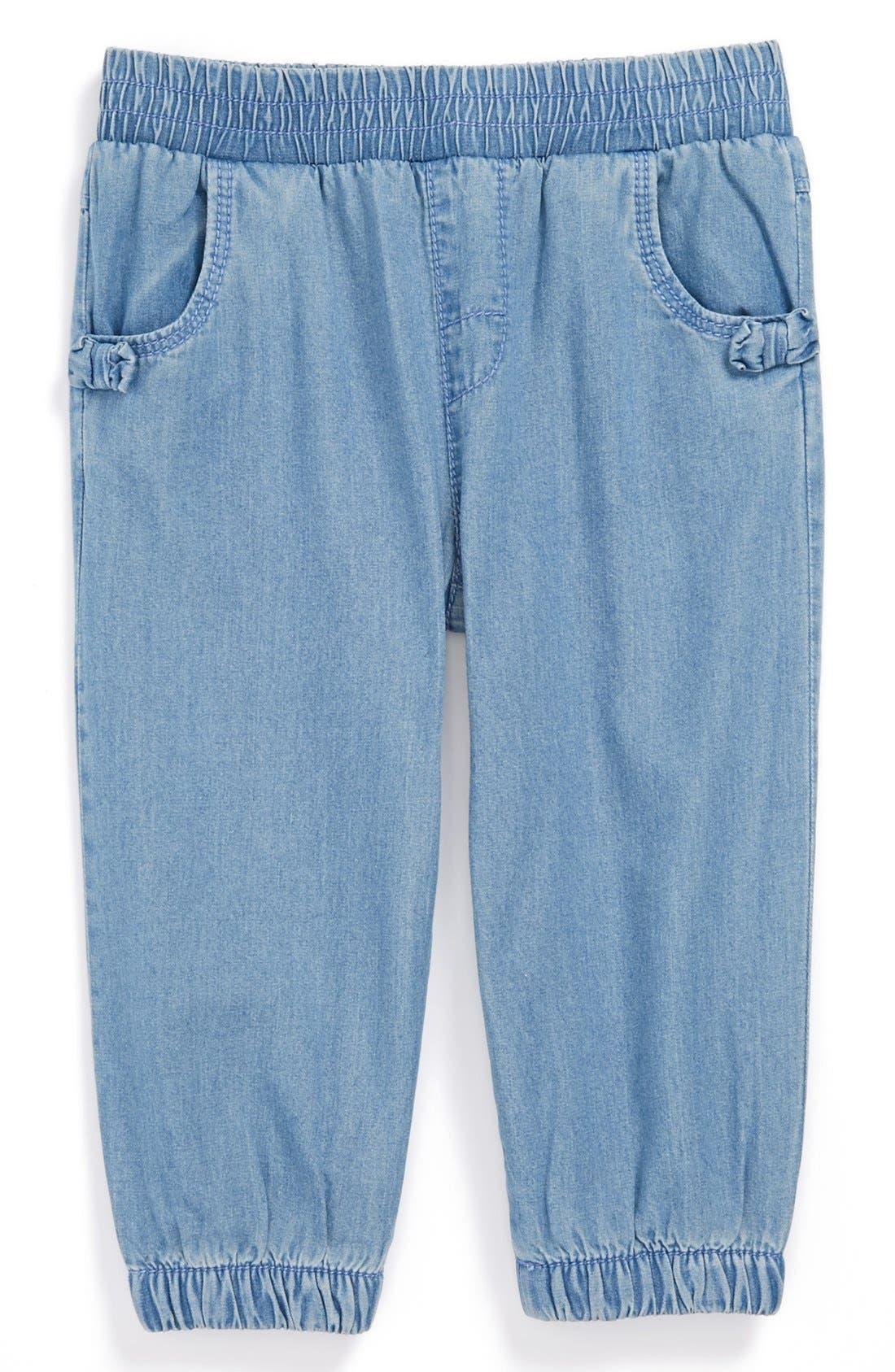 Main Image - Nordstrom Baby Denim Pants (Baby Girls)