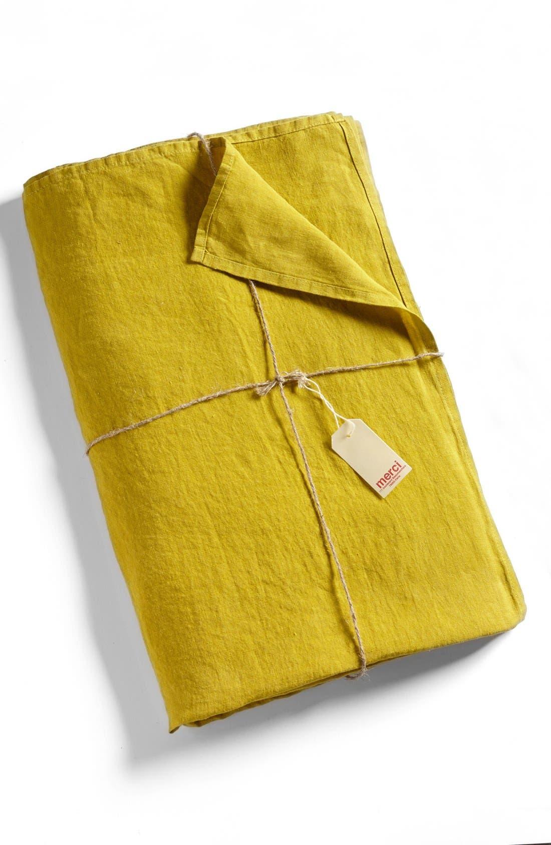 Alternate Image 1  - Merci Washed Linen Queen Size Flat Sheet