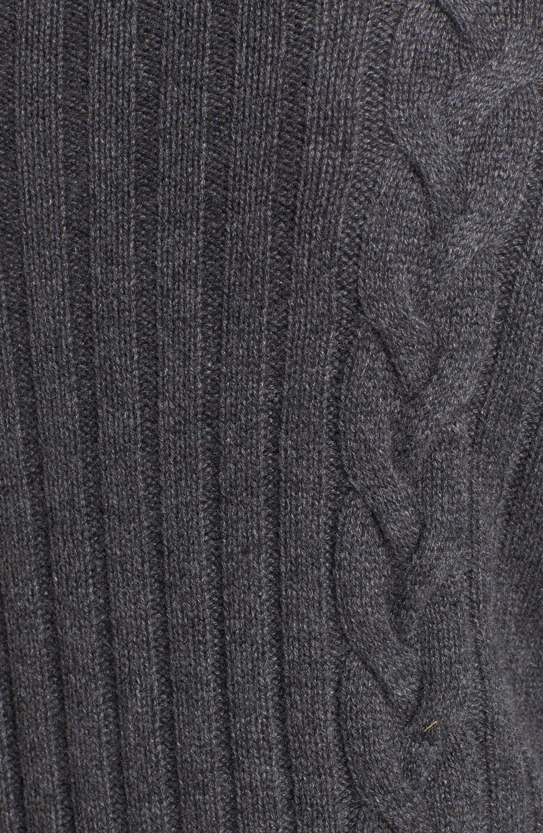 Alternate Image 3  - Robert Talbott Chunky Cable Cashmere Cardigan