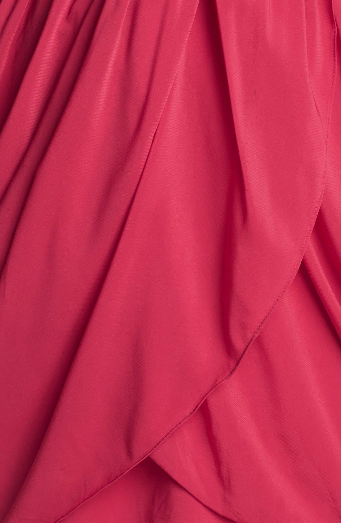 Alternate Image 3  - Aidan by Aidan Mattox Draped Fit & Flare Dress