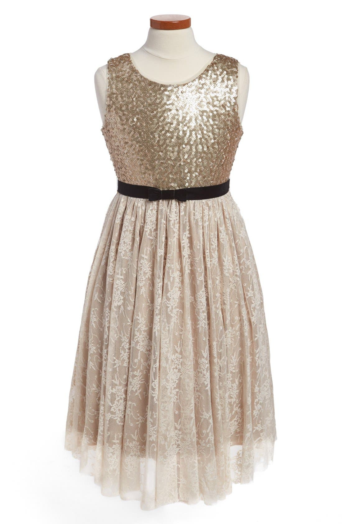 Main Image - Us Angels Sequin Dress (Little Girls & Big Girls)