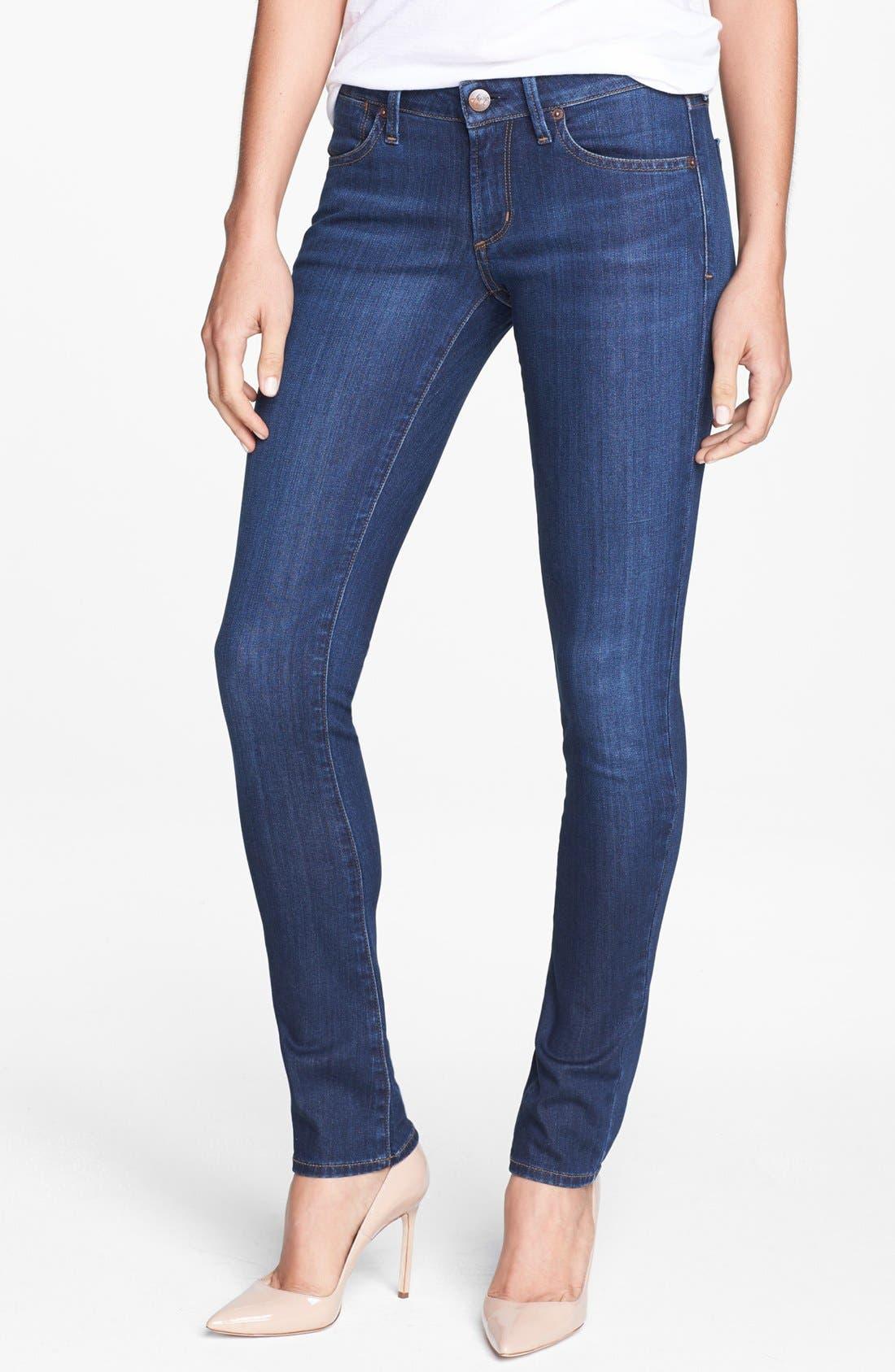 Main Image - A Gold E 'Chloe' Slim Straight Leg Jeans (Tribeca)