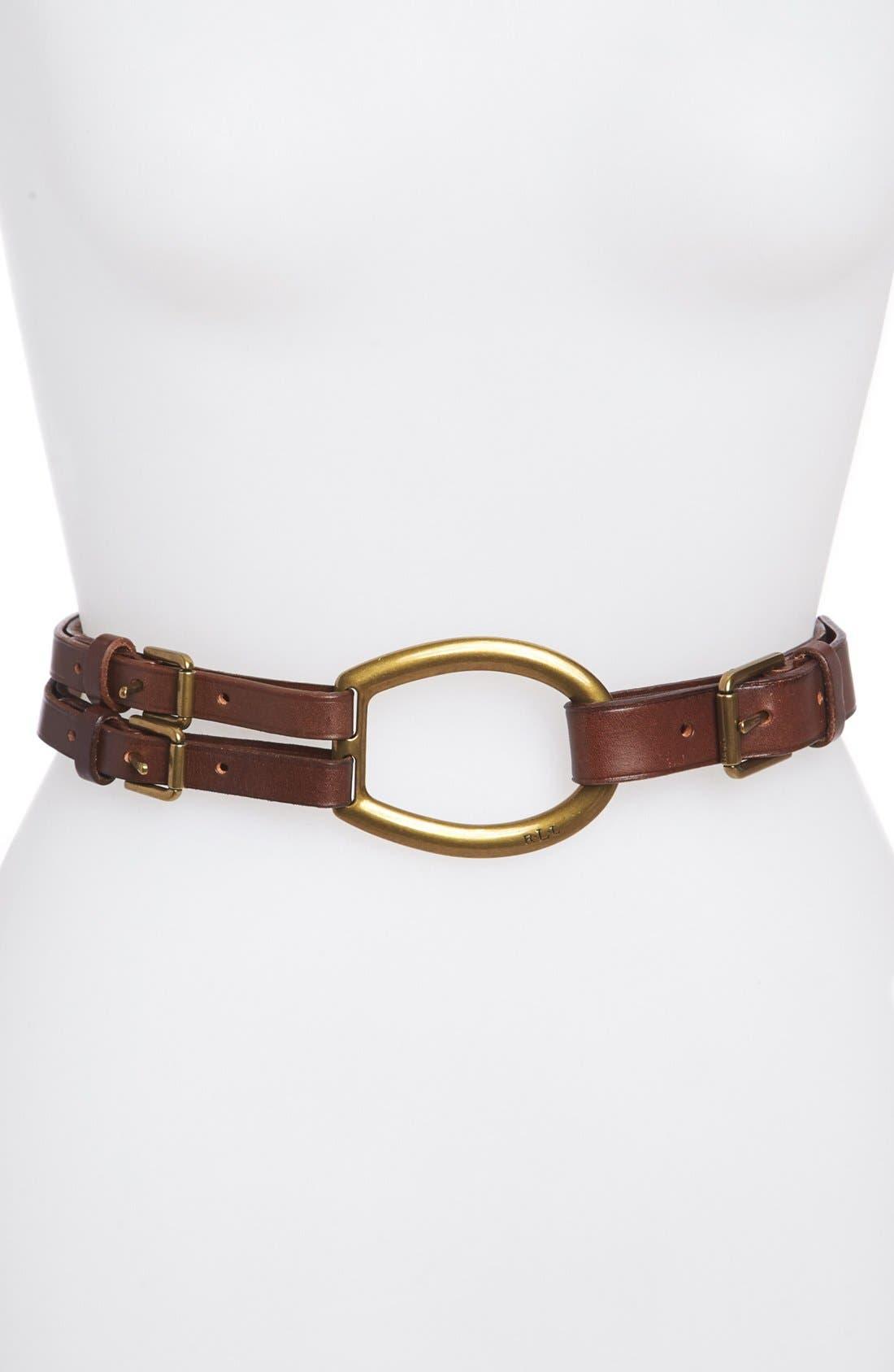 Alternate Image 1 Selected - Lauren Ralph Lauren Tri-Strap Belt