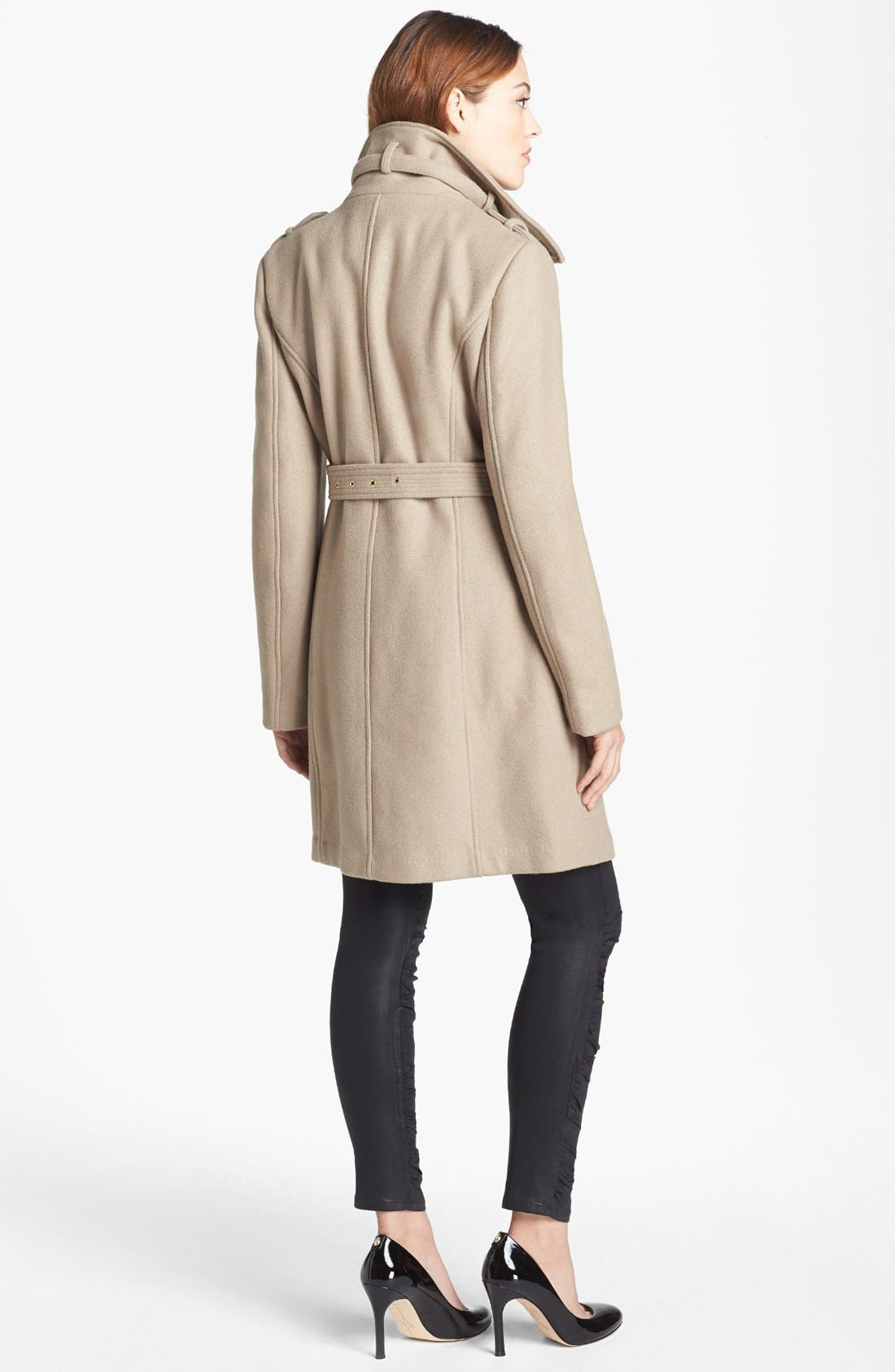 Alternate Image 2  - MICHAEL Michael Kors Wool Blend Military Trench Coat (Nordstrom Exclusive)