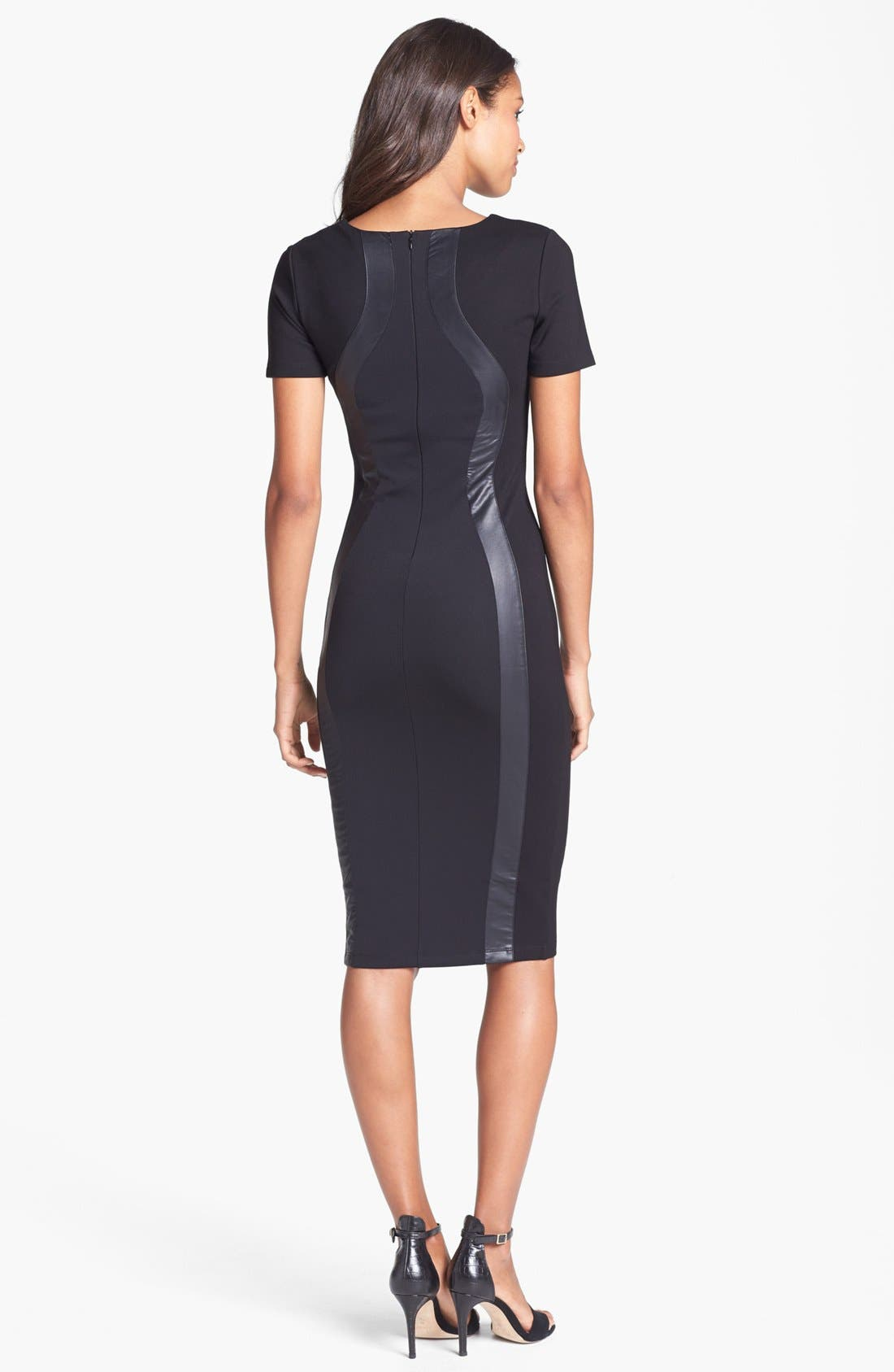 Alternate Image 2  - Felicity & Coco Faux Leather Silhouette Body-Con Dress (Nordstrom Exclusive)