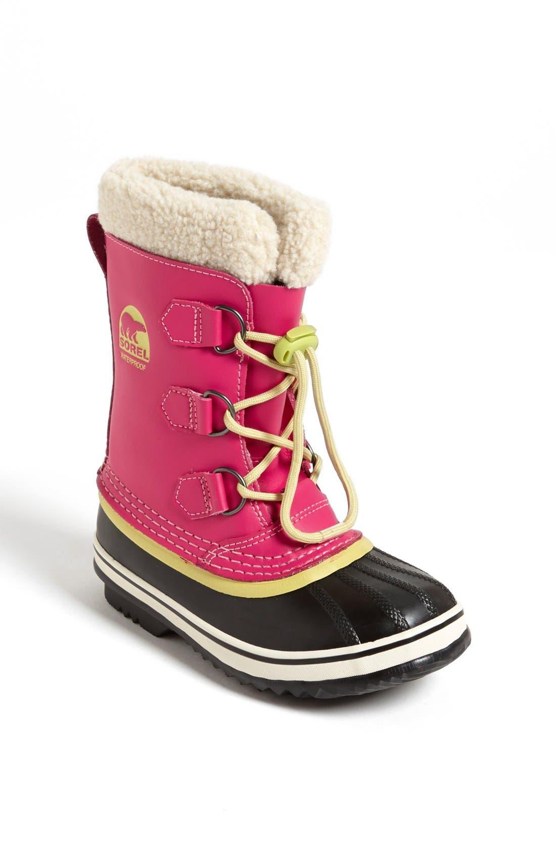 Alternate Image 1 Selected - SOREL 'Yoot Pac' Weatherproof Boot (Toddler, Little Kid & Big Kid)