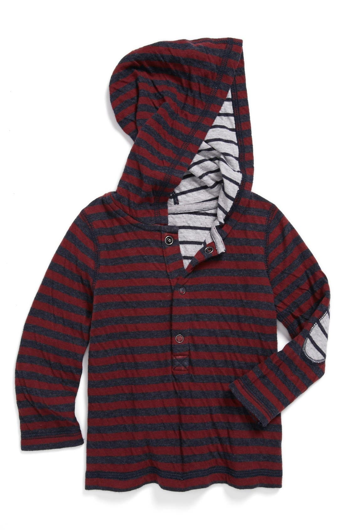 Alternate Image 1 Selected - Tucker + Tate Reversible Long Sleeve Henley Hoodie (Toddler)