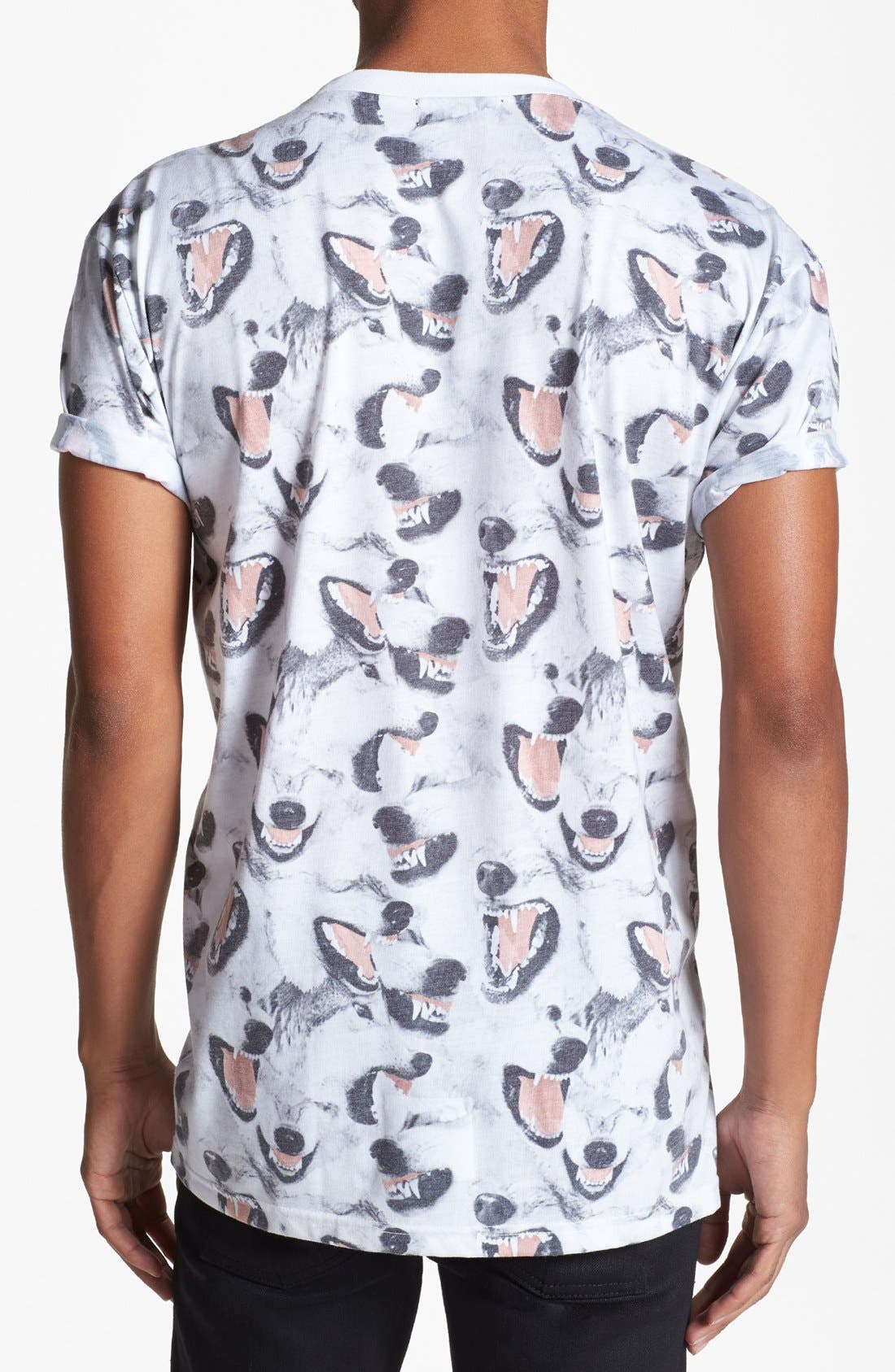 Alternate Image 2  - Topman Canine Print T-Shirt