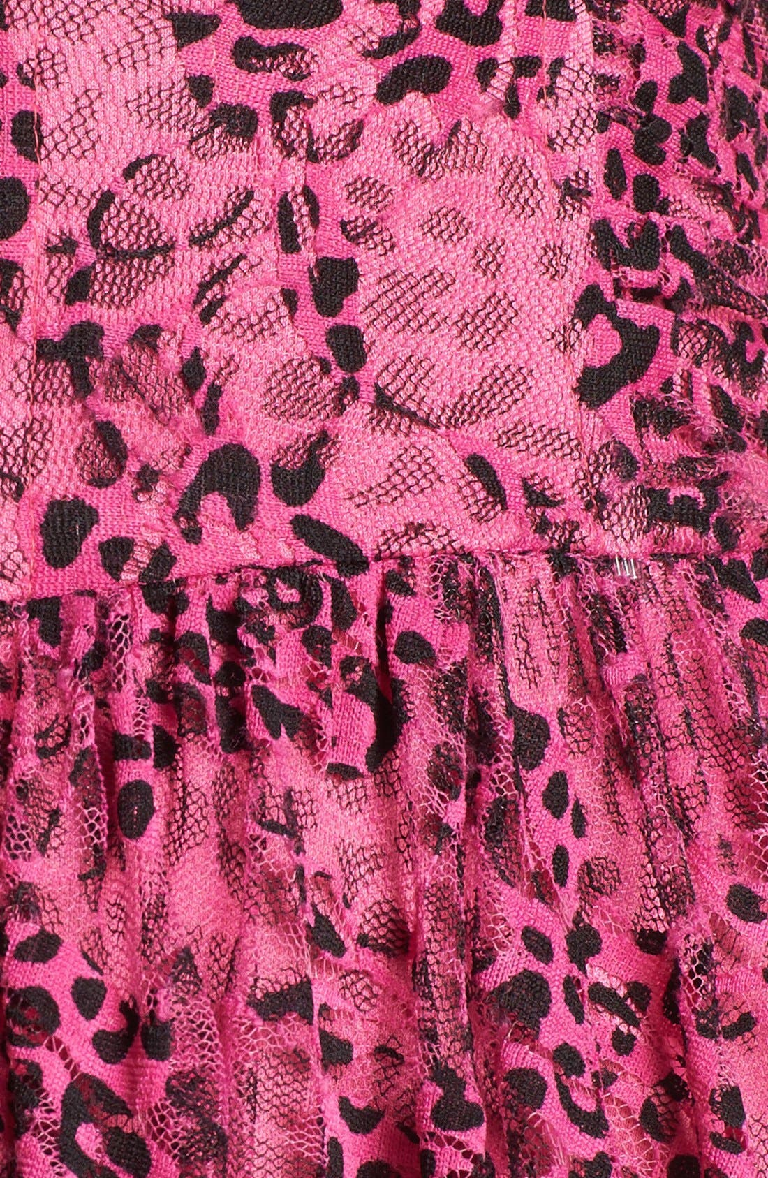 Alternate Image 3  - Betsey Johnson Print Mesh Lace Fit & Flare Dress