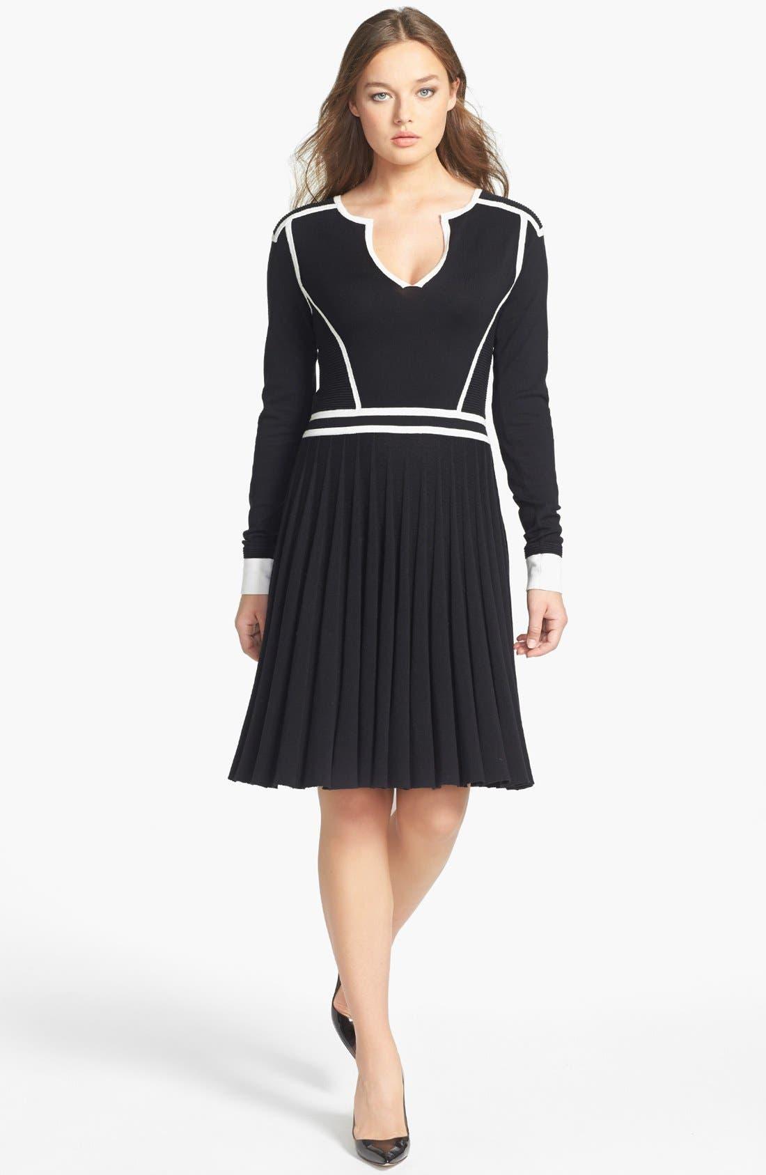 Main Image - MARC BY MARC JACOBS 'Alexis' Cotton Blend Sweater Dress